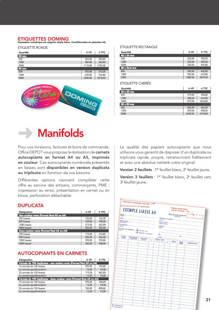 Catalogue Office Depot - 01.09.2020 - 31.12.2020. Page 21.