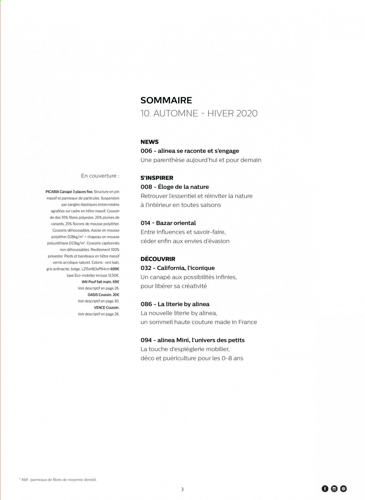 Catalogue alinea - 24.09.2020 - 30.11.2020. Page 3.