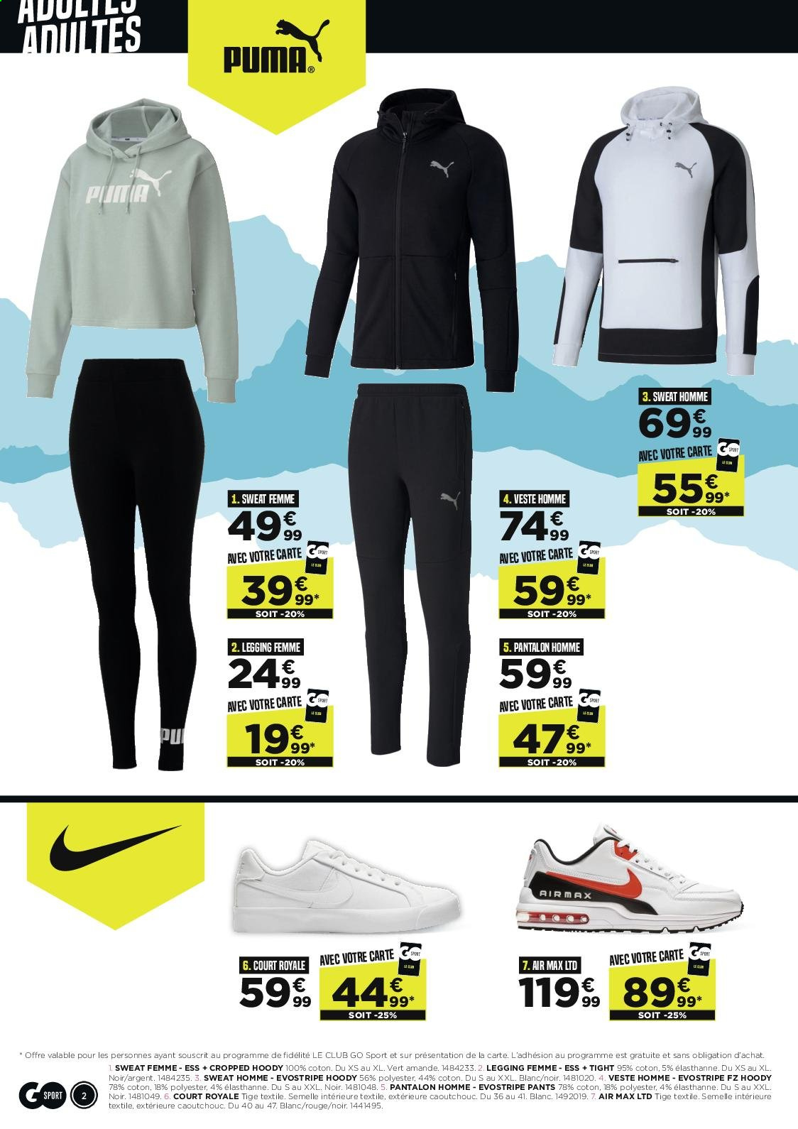 Catalogue Go Sport - 30.09.2020 - 02.11.2020. Page 2.