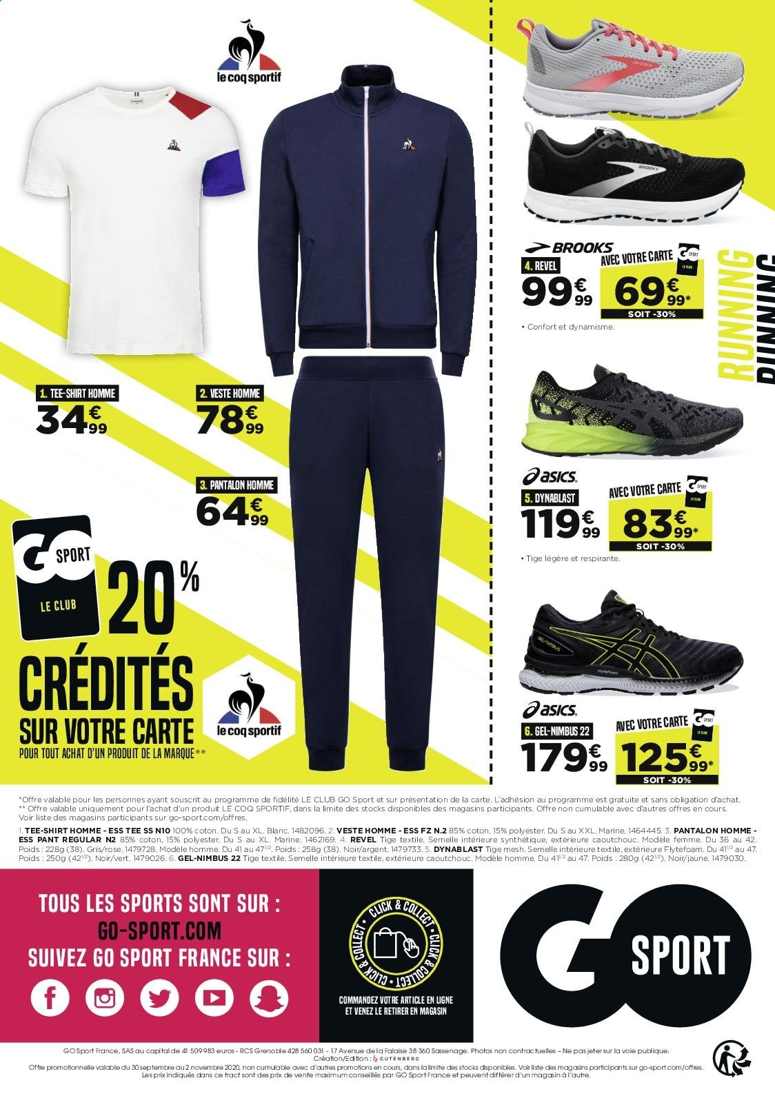 Catalogue Go Sport - 30.09.2020 - 02.11.2020. Page 4.