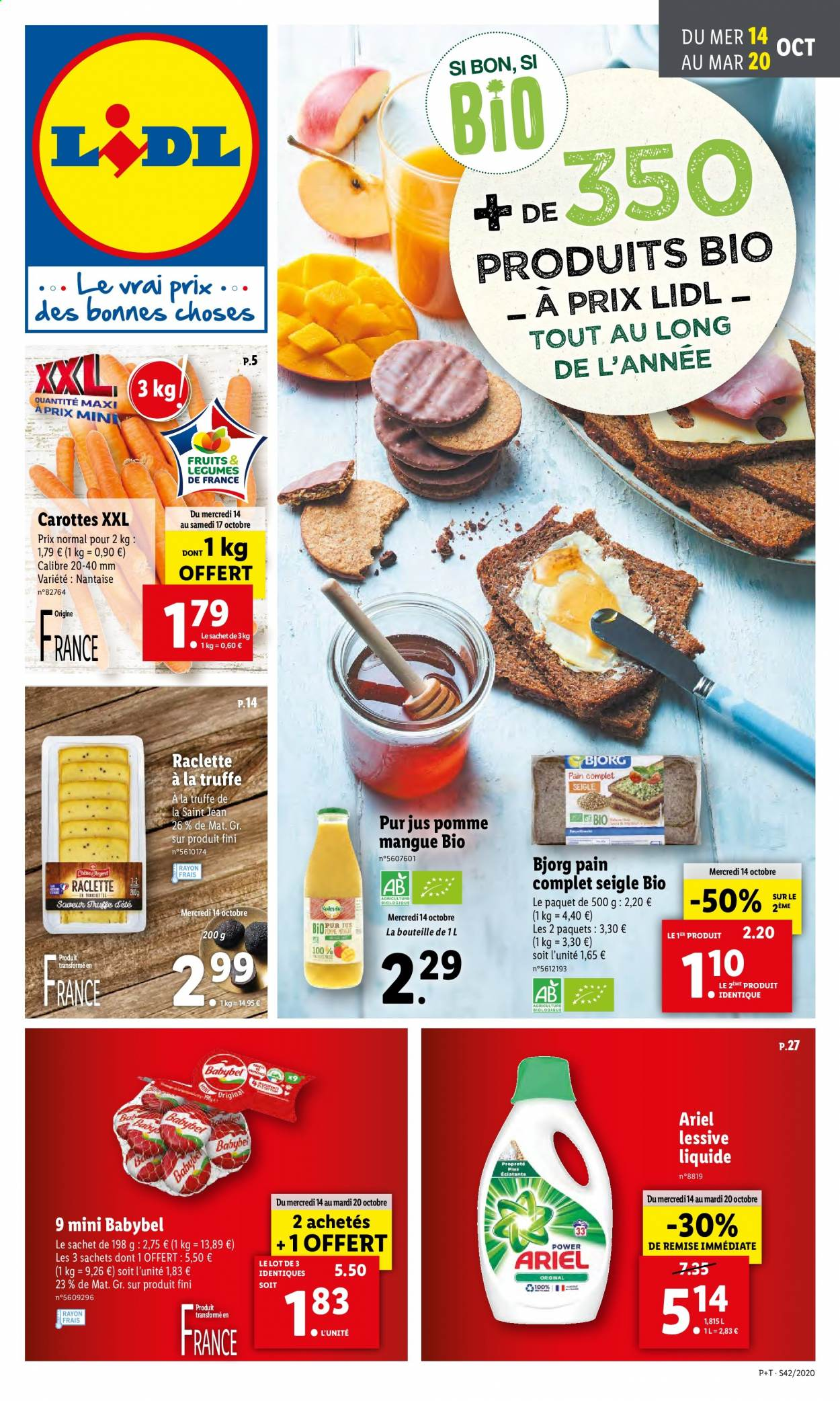 Catalogue Lidl - 14.10.2020 - 20.10.2020. Page 1.