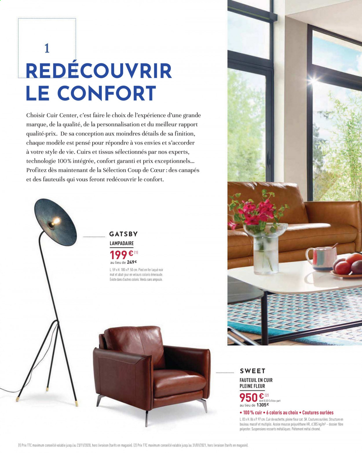 Catalogue Cuir Center - 14.10.2020 - 23.11.2020. Page 2.