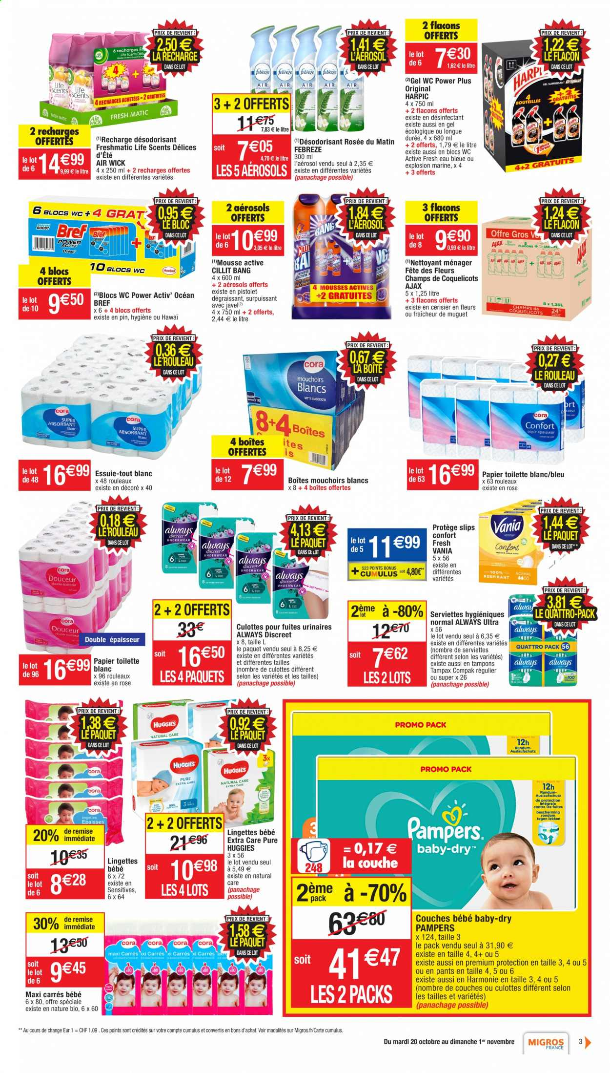 Catalogue Migros France - 20.10.2020 - 01.11.2020. Page 3.