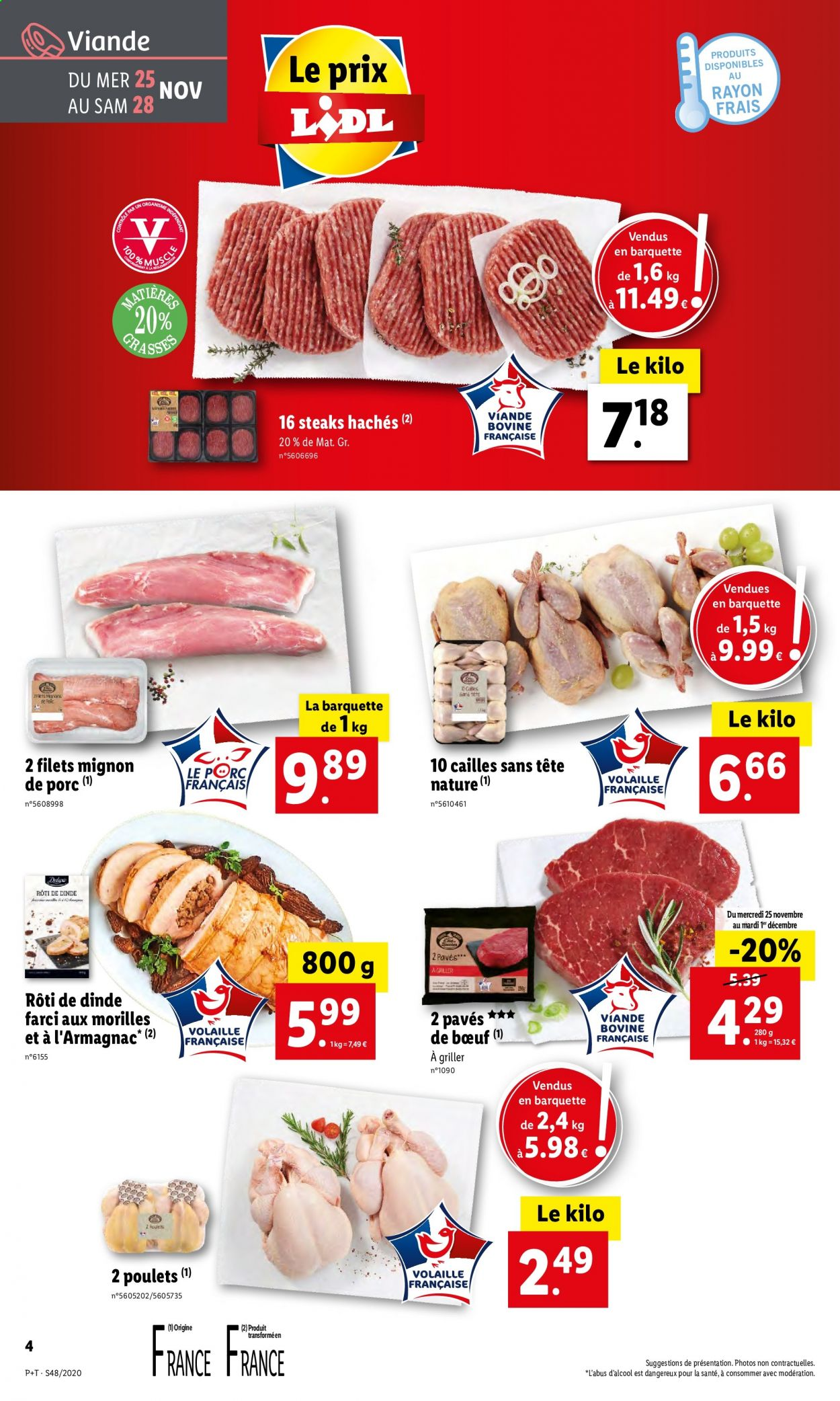 Catalogue Lidl - 25.11.2020 - 01.12.2020. Page 4.