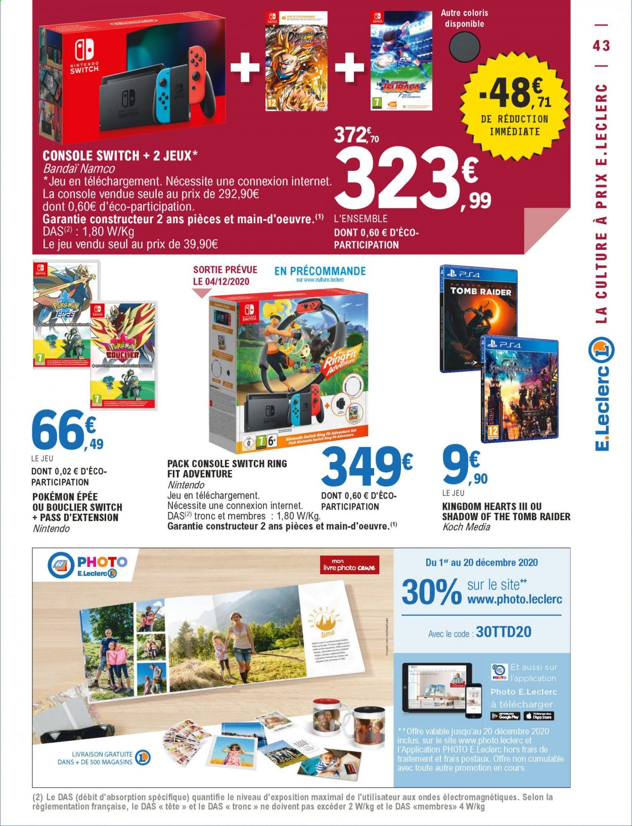 Catalogue E.Leclerc - 01.12.2020 - 12.12.2020. Page 43.