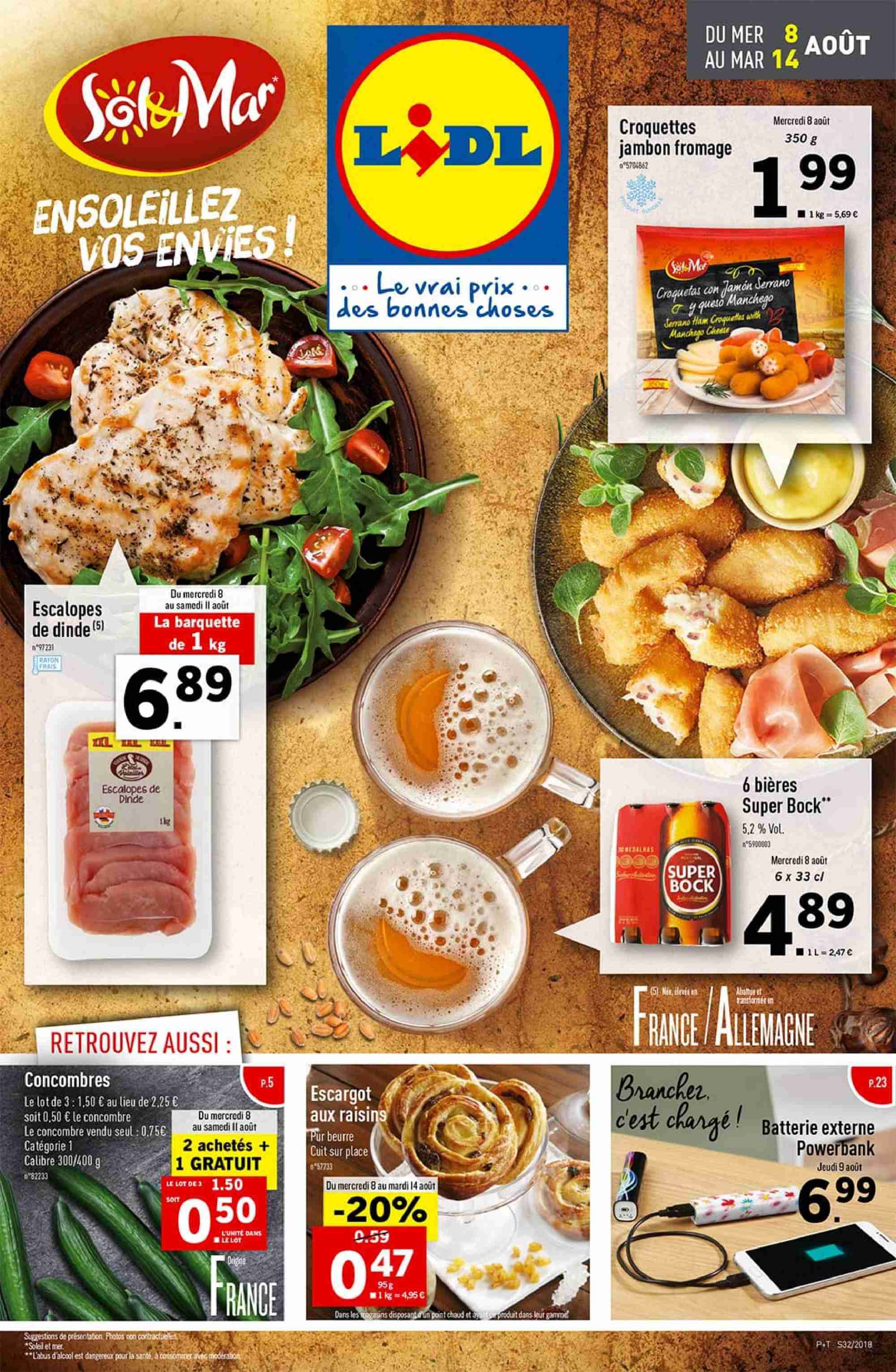 Catalogue Lidl - 08.08.2018 - 14.08.2018. Page 1.