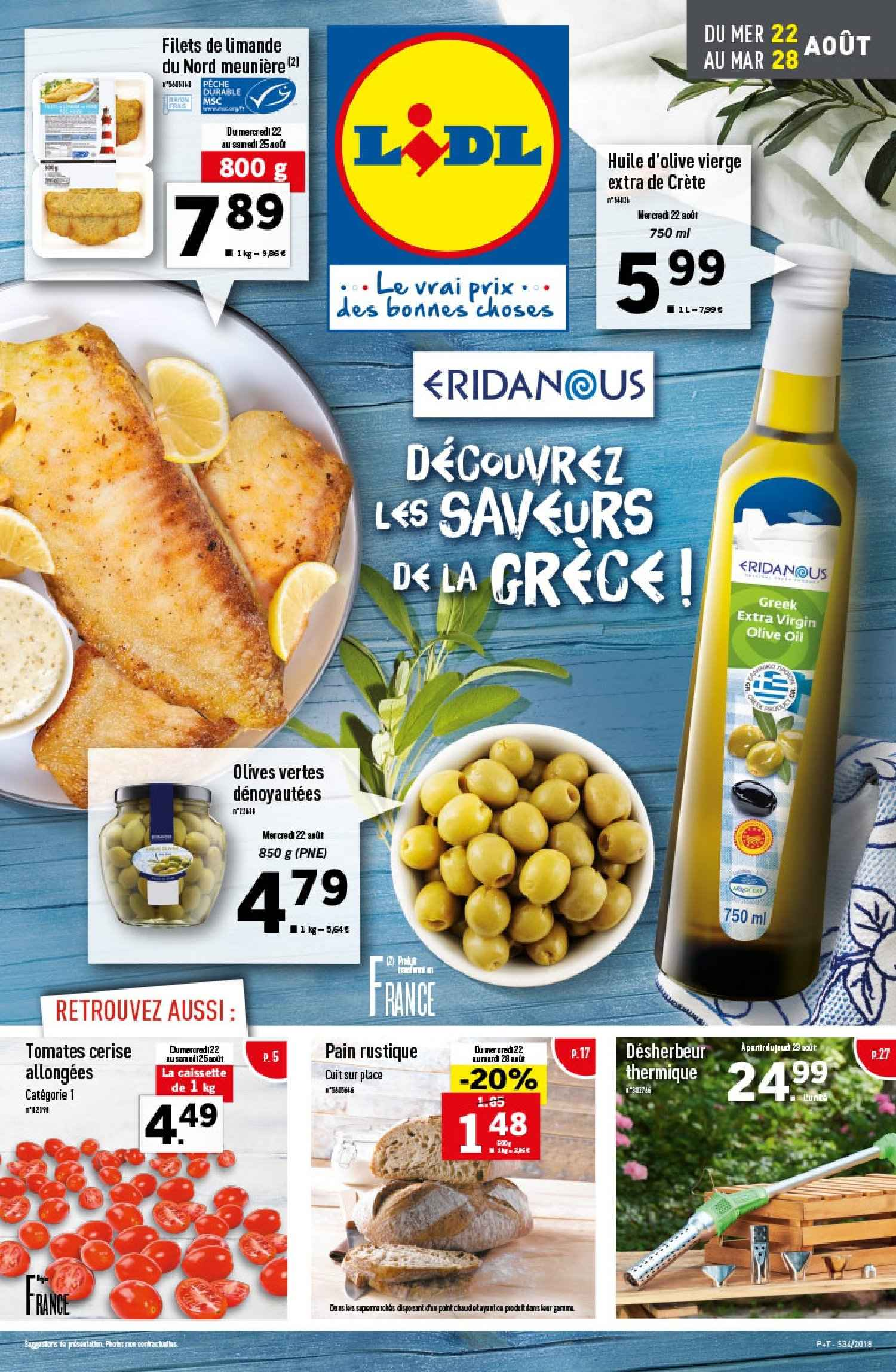 Catalogue Lidl - 22.08.2018 - 28.08.2018. Page 1.