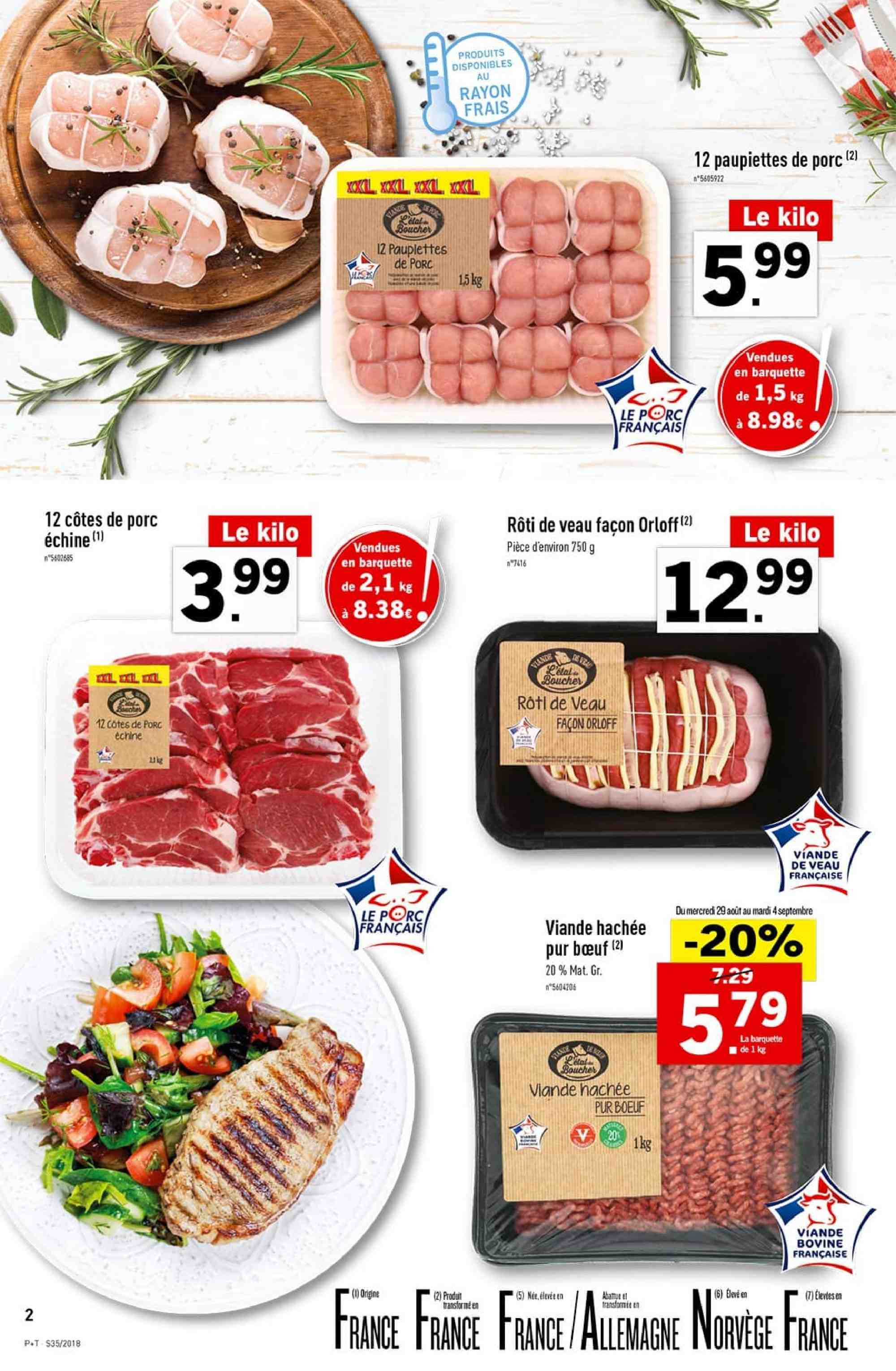 Catalogue Lidl - 29.08.2018 - 04.09.2018. Page 2.