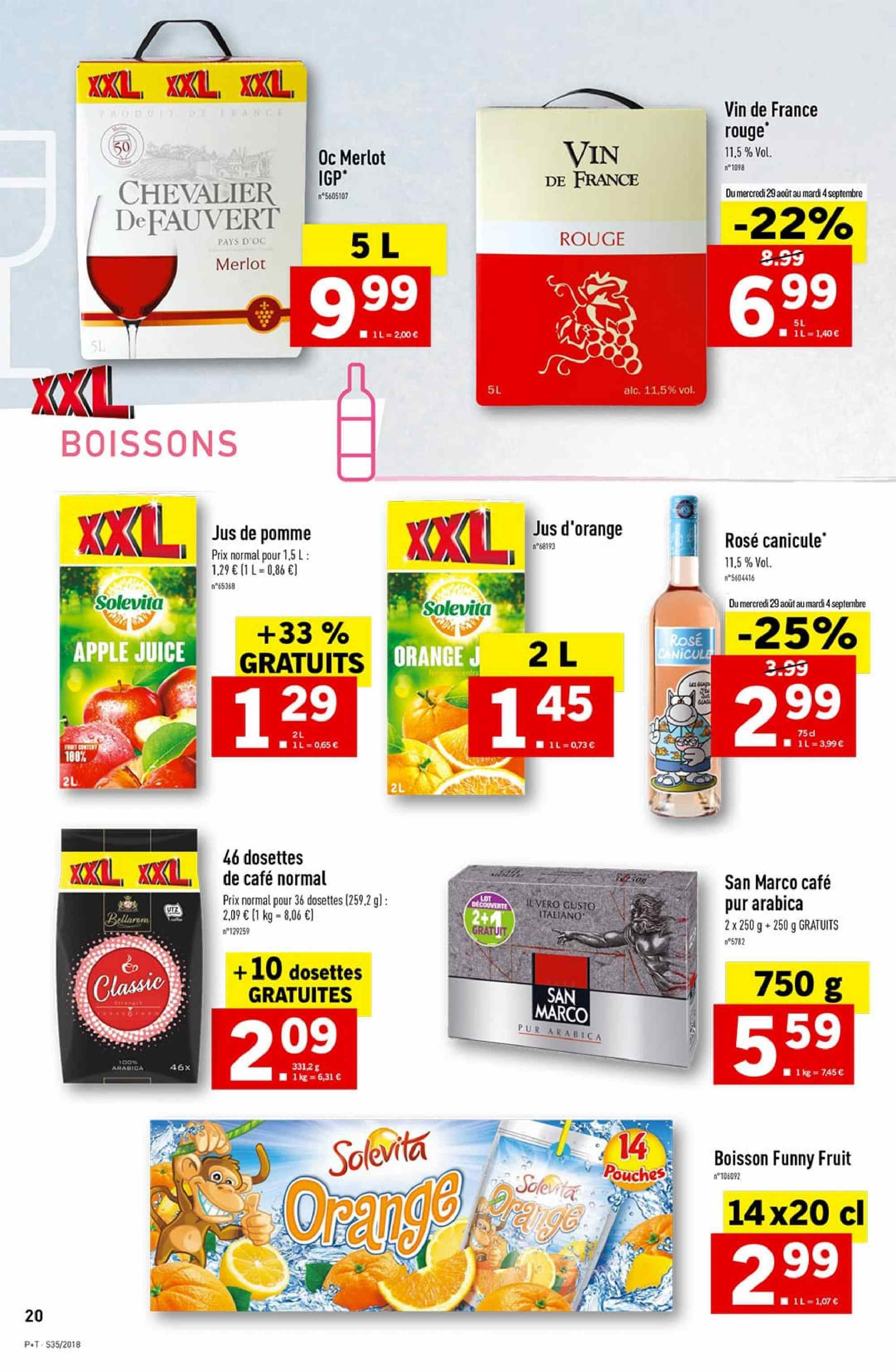 Catalogue Lidl - 29.08.2018 - 04.09.2018. Page 20.