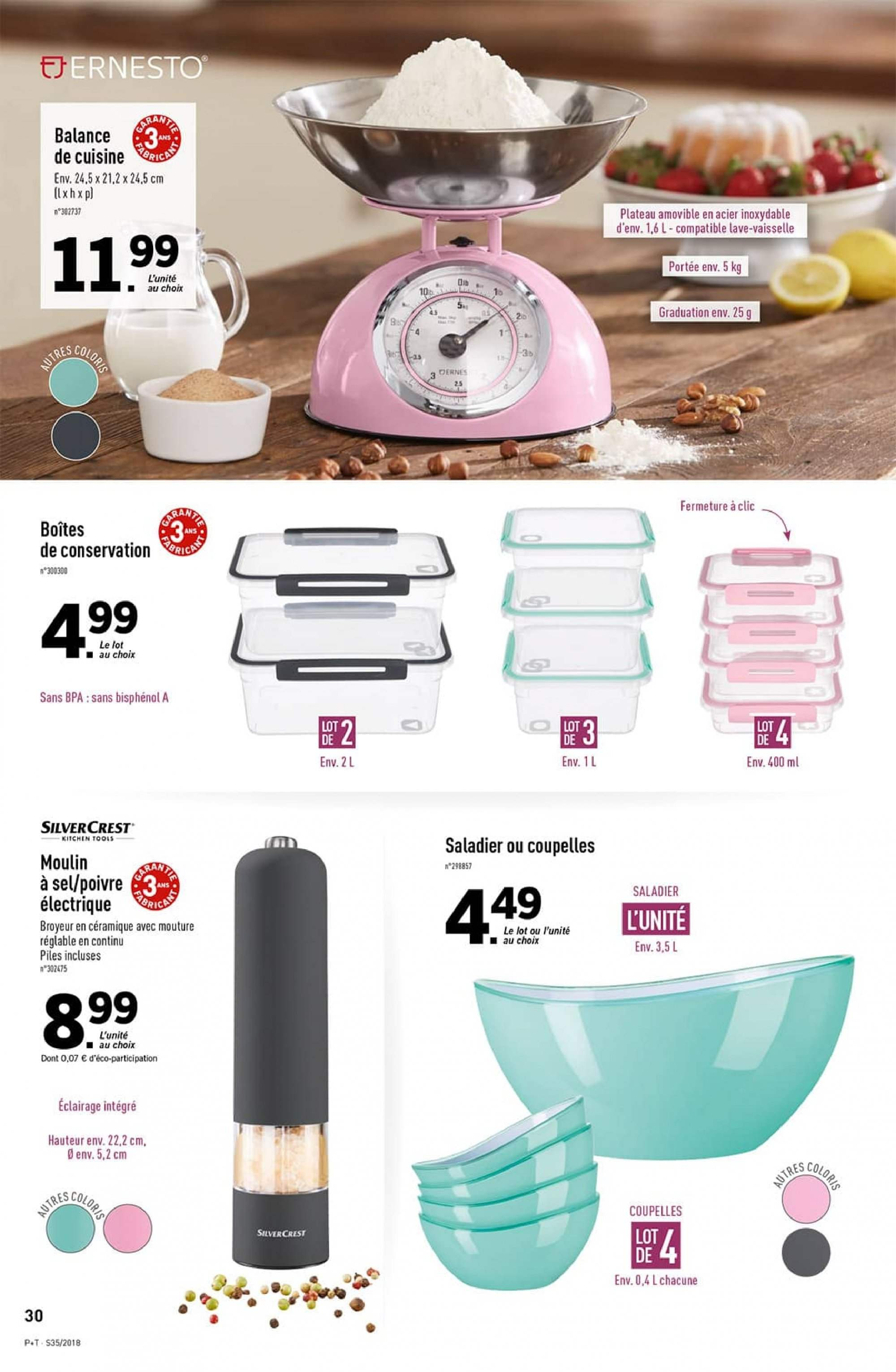 Catalogue Lidl - 29.08.2018 - 04.09.2018. Page 30.