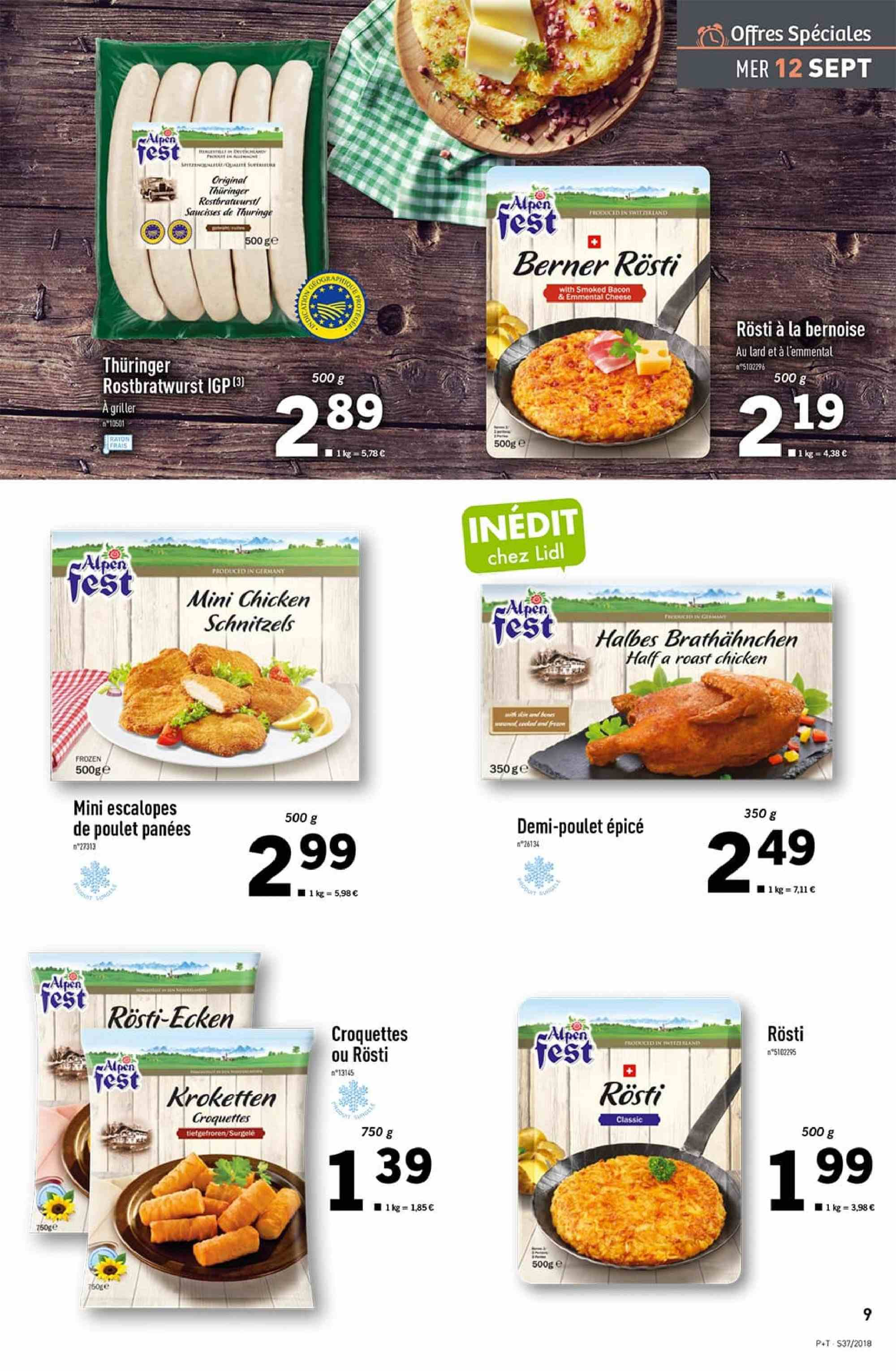 Catalogue Lidl - 12.09.2018 - 18.09.2018. Page 9.