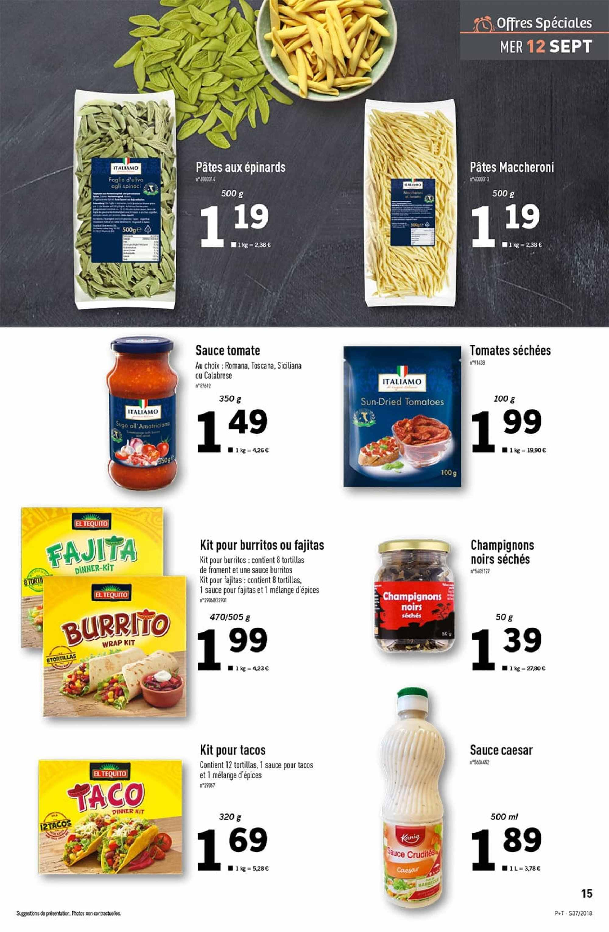 Catalogue Lidl - 12.09.2018 - 18.09.2018. Page 15.