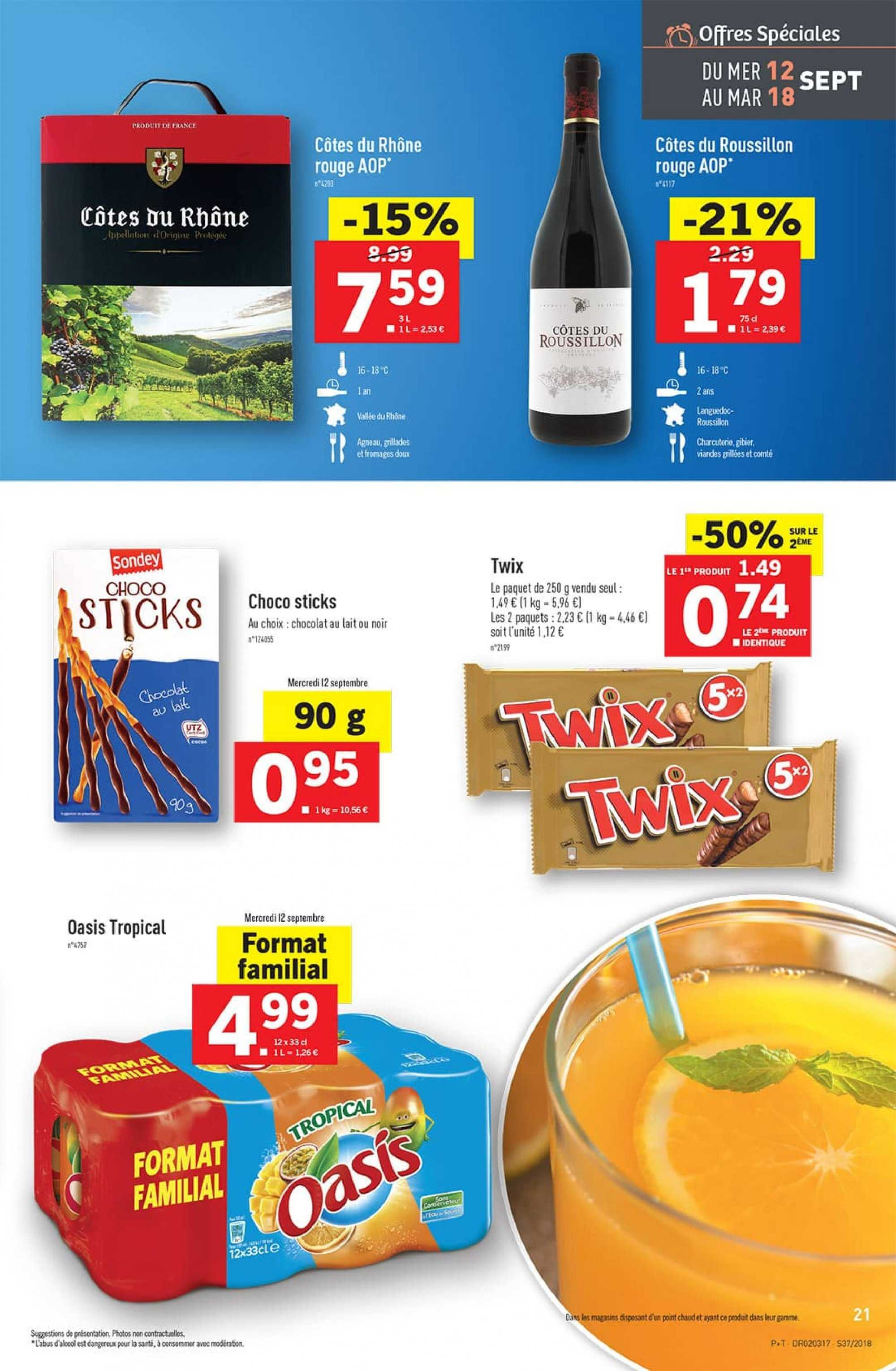 Catalogue Lidl - 12.09.2018 - 18.09.2018. Page 21.