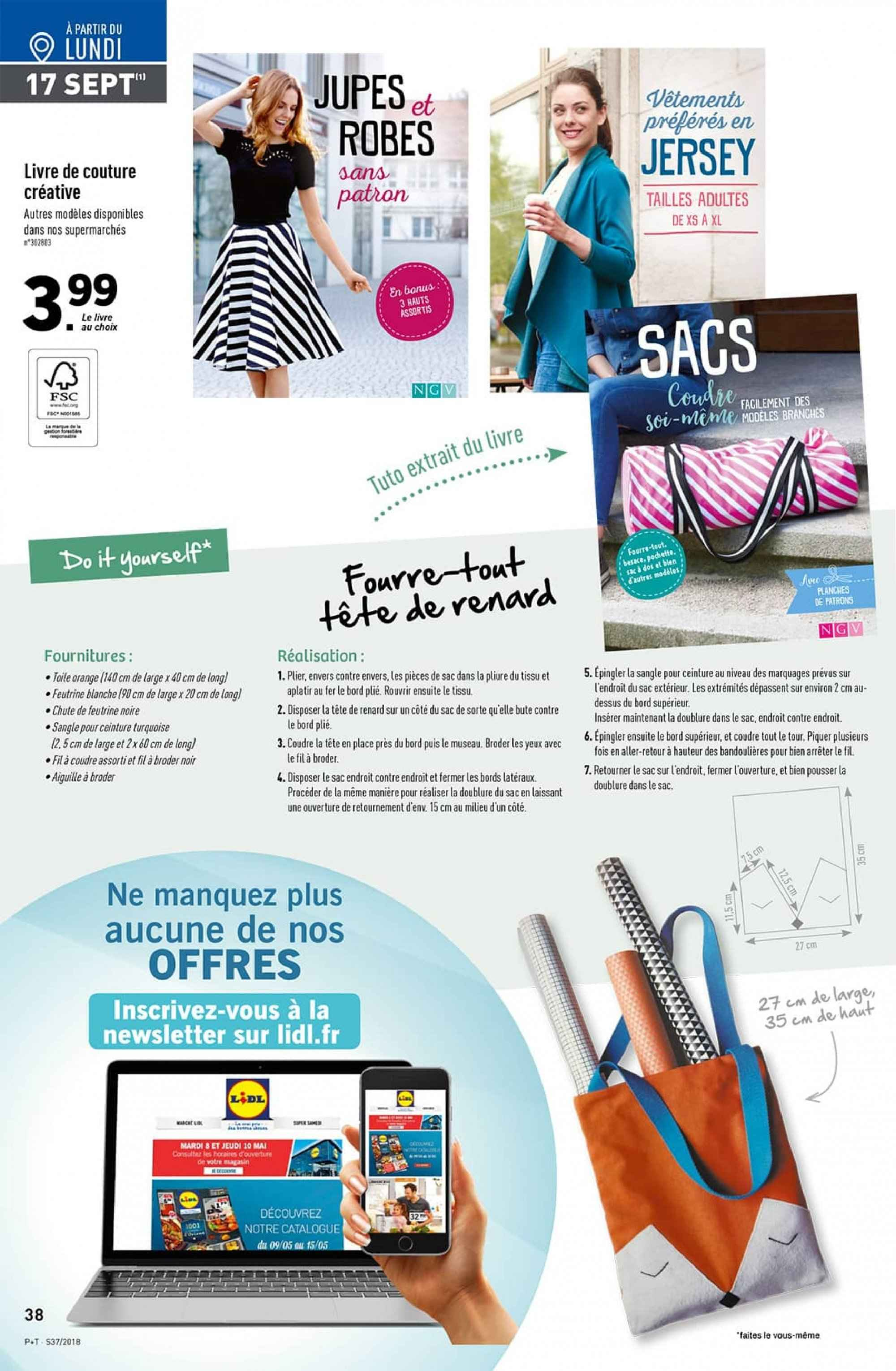 Catalogue Lidl - 12.09.2018 - 18.09.2018. Page 38.