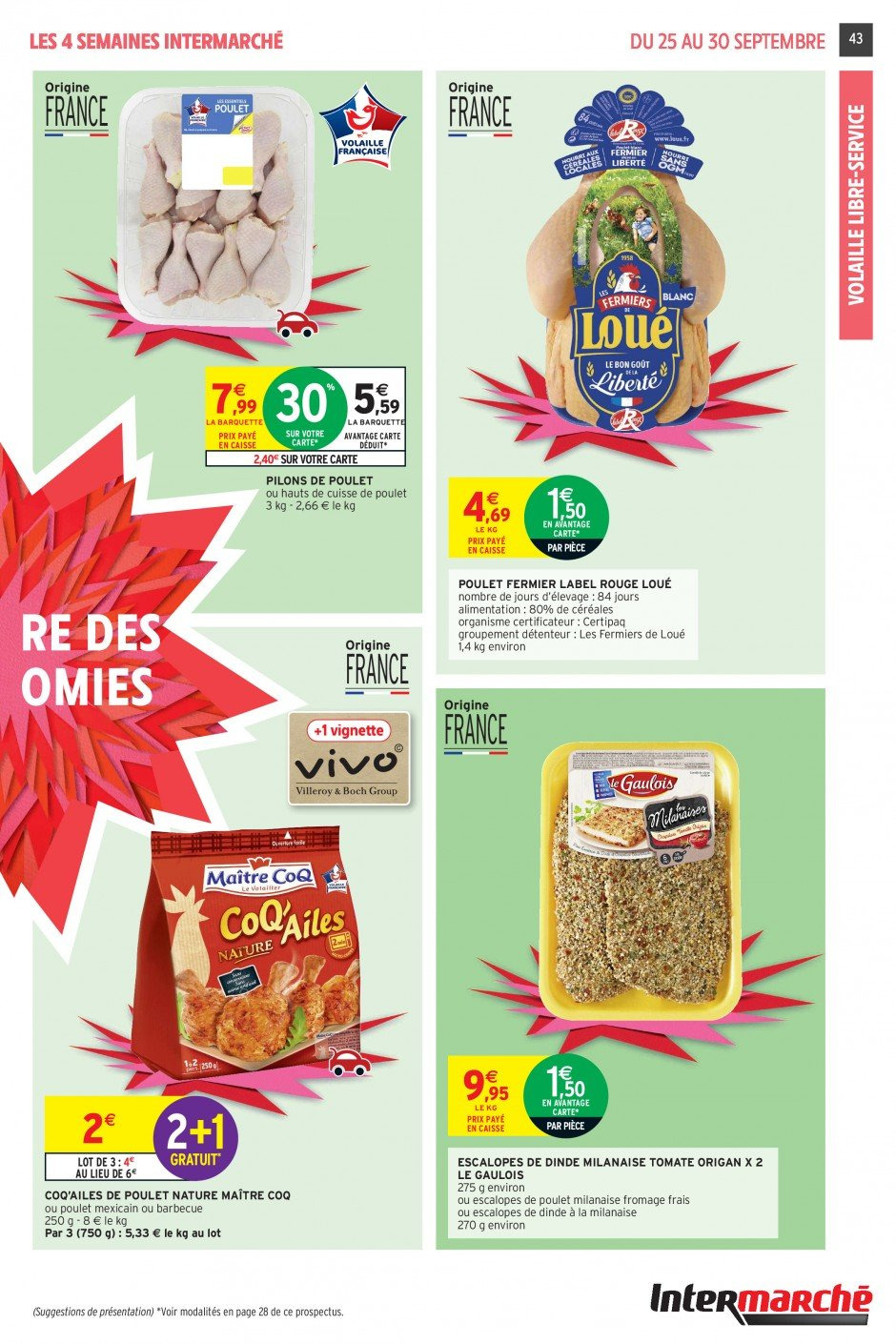 Catalogue Intermarché - 25.09.2018 - 30.09.2018. Page 43.
