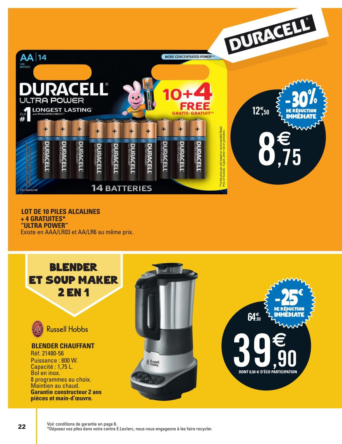 Catalogue E.Leclerc - 02.10.2018 - 13.10.2018. Page 22.