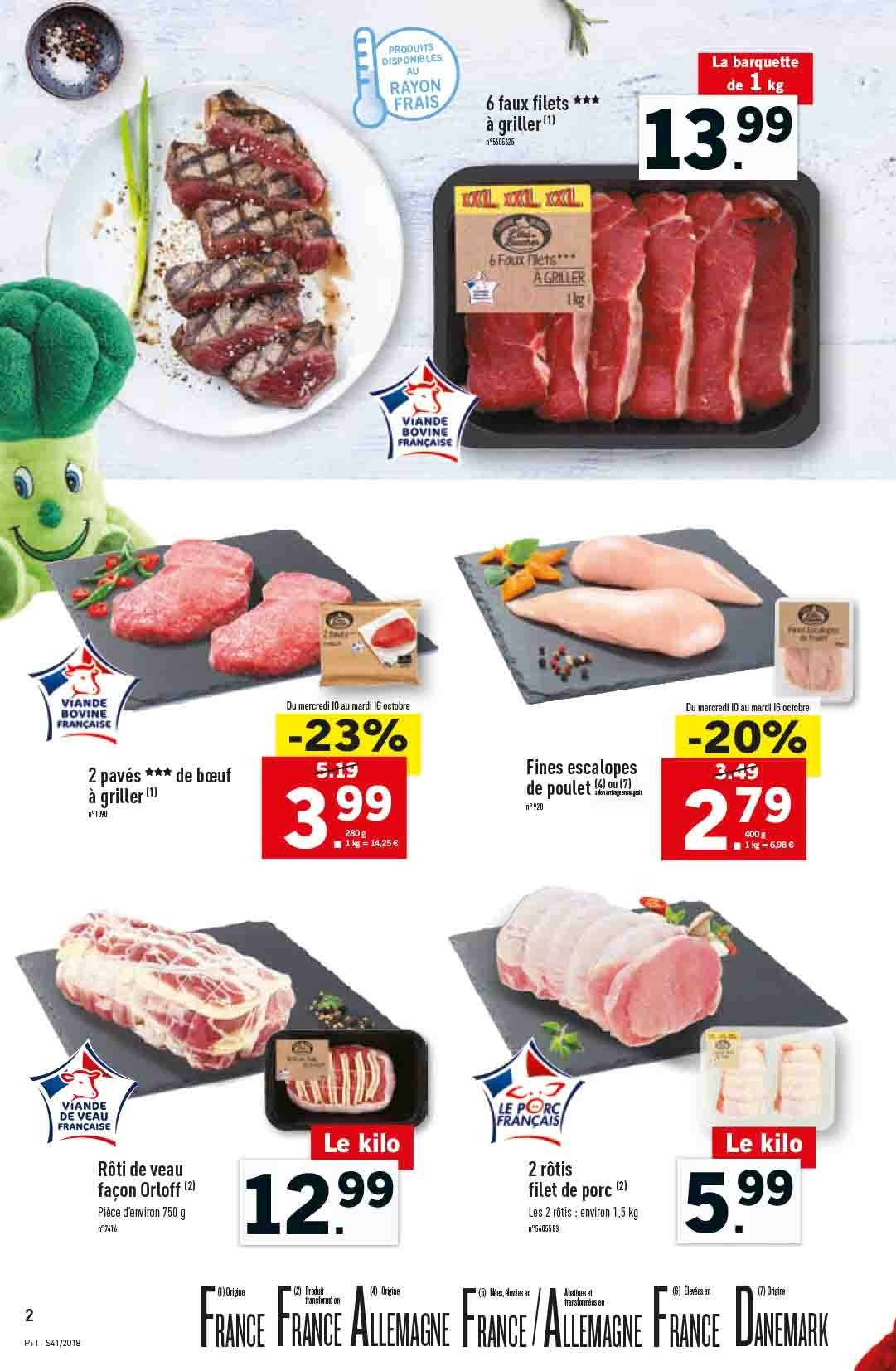 Catalogue Lidl - 10.10.2018 - 16.10.2018. Page 2.