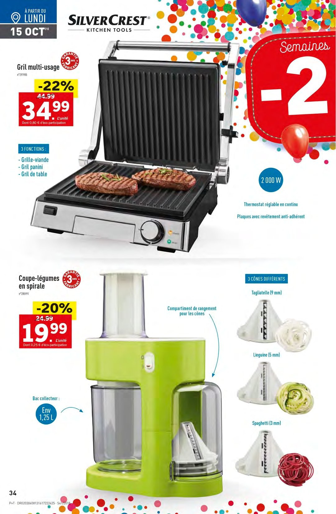 Catalogue Lidl - 10.10.2018 - 16.10.2018. Page 34.