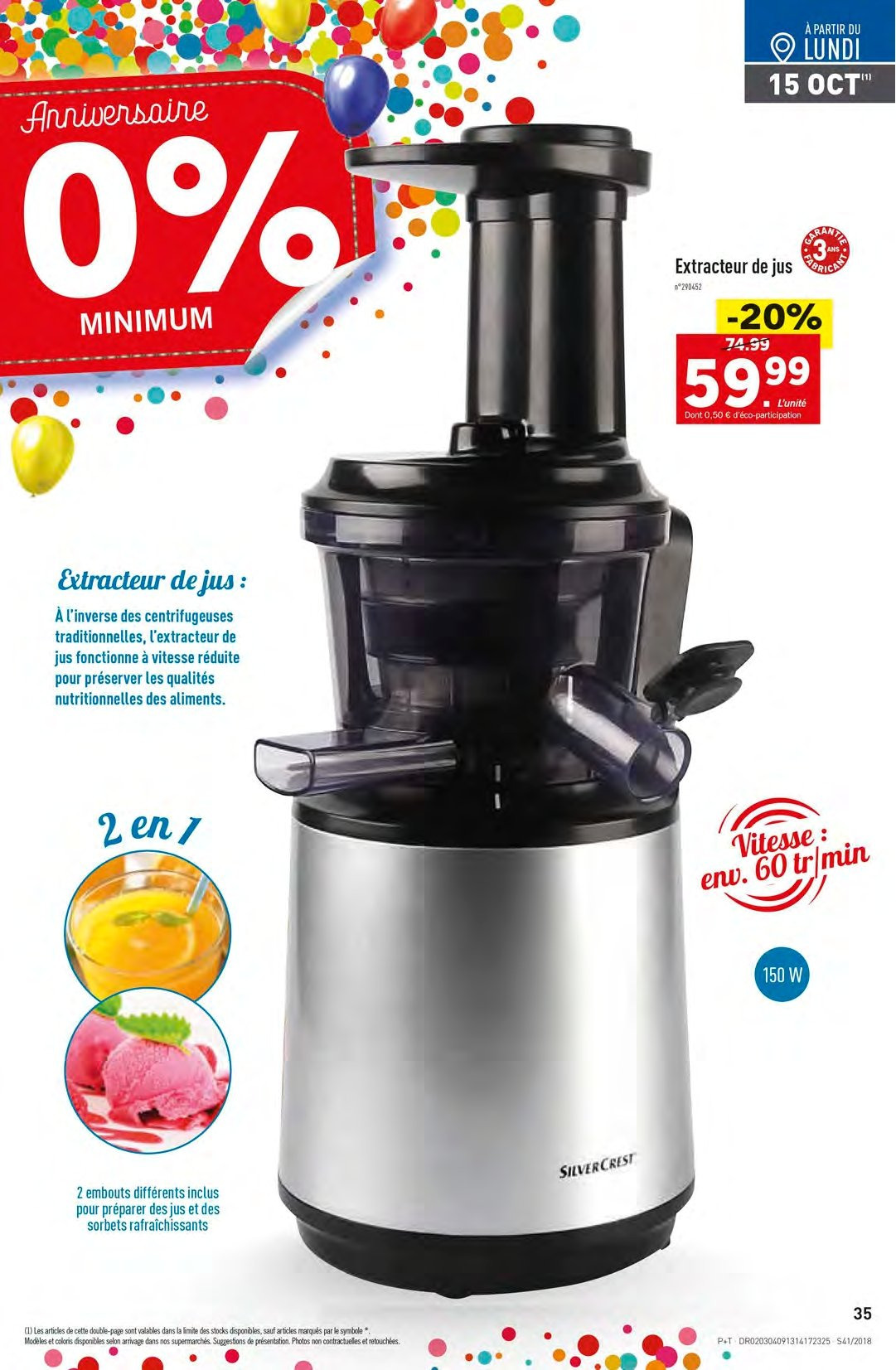 Catalogue Lidl - 10.10.2018 - 16.10.2018. Page 35.