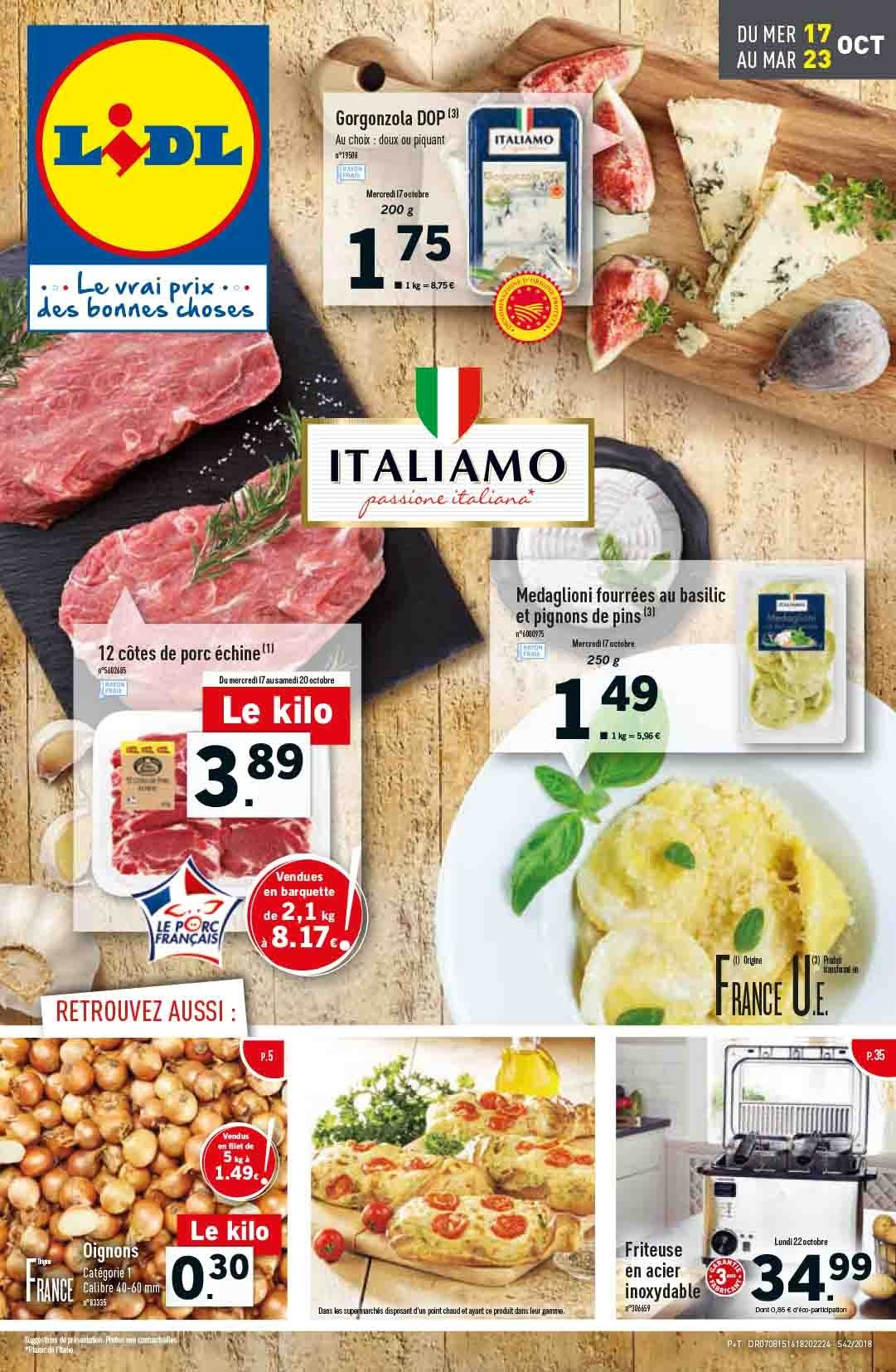 Catalogue Lidl - 17.10.2018 - 23.10.2018. Page 1.