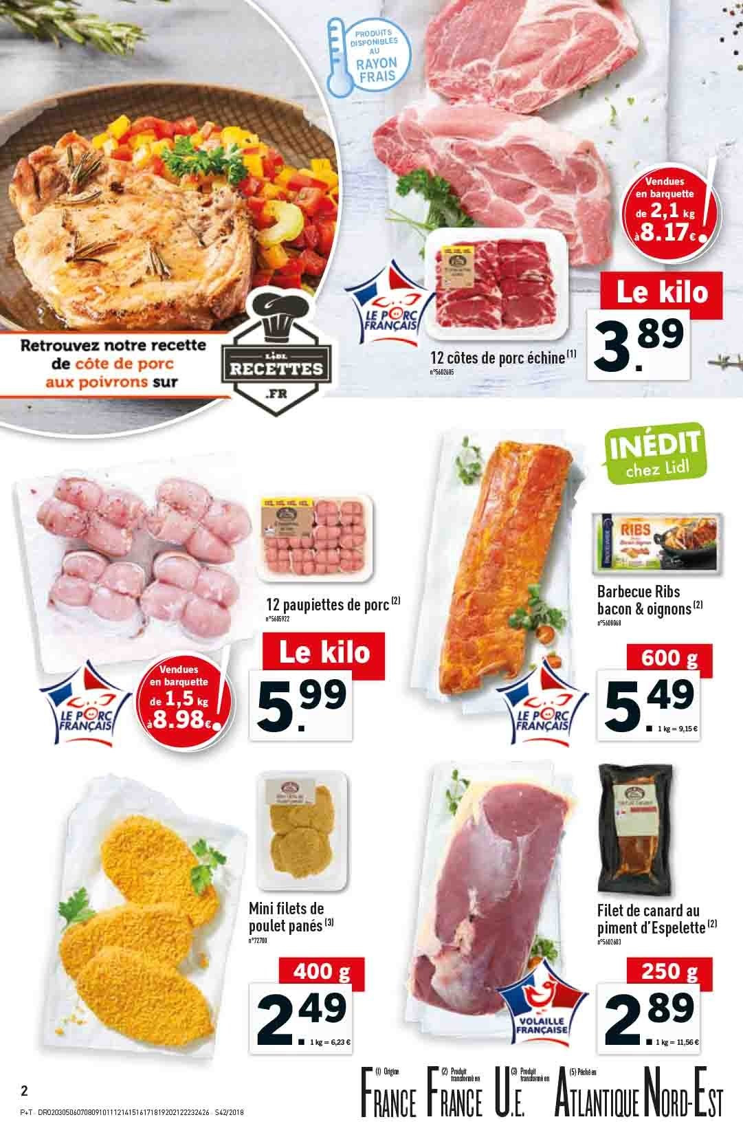 Catalogue Lidl - 17.10.2018 - 23.10.2018. Page 2.