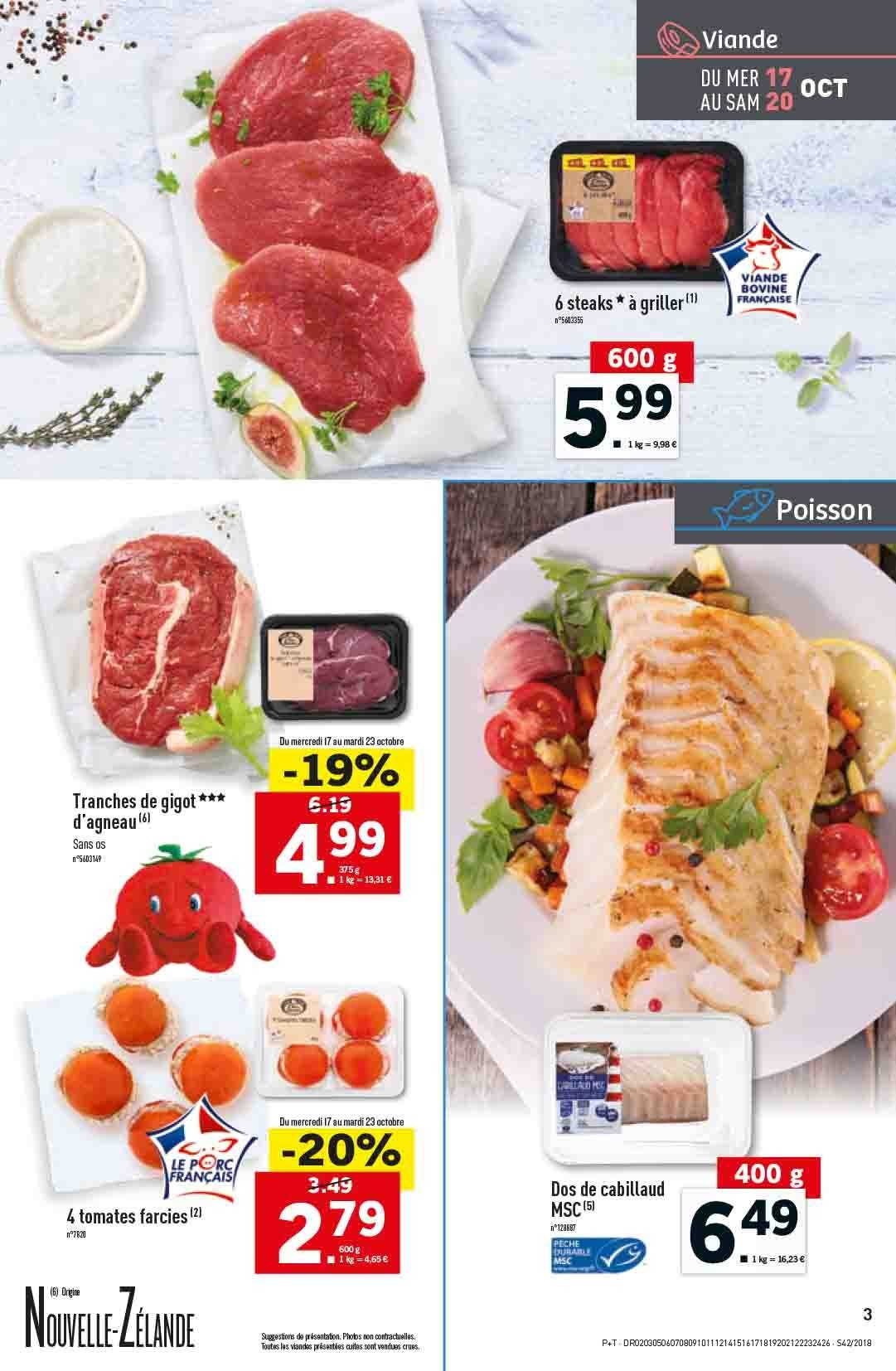 Catalogue Lidl - 17.10.2018 - 23.10.2018. Page 3.