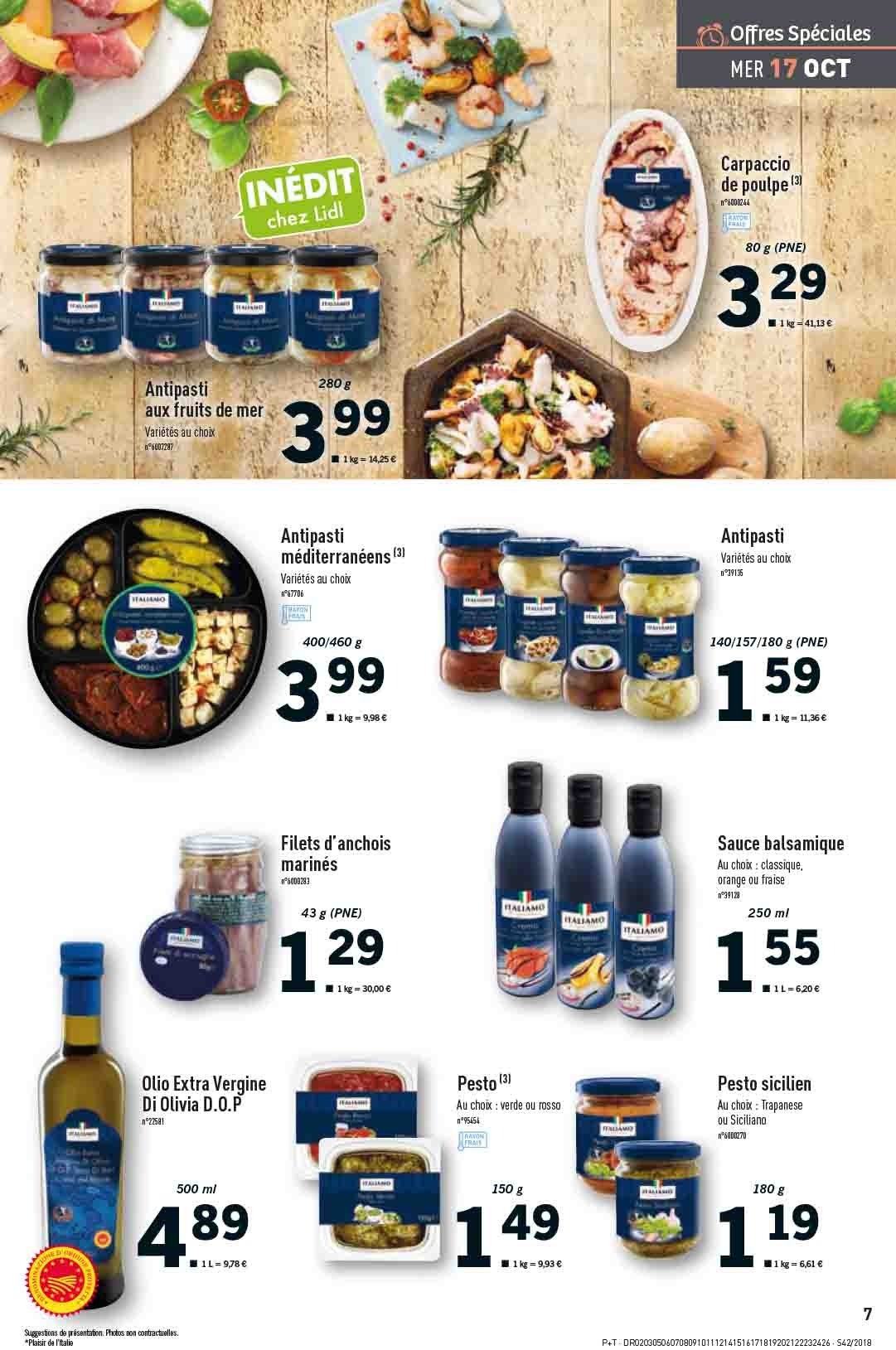 Catalogue Lidl - 17.10.2018 - 23.10.2018. Page 7.