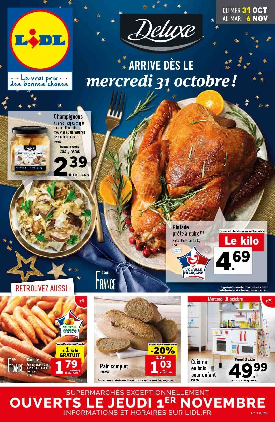 Catalogue Lidl - 31.10.2018 - 06.11.2018. Page 1.