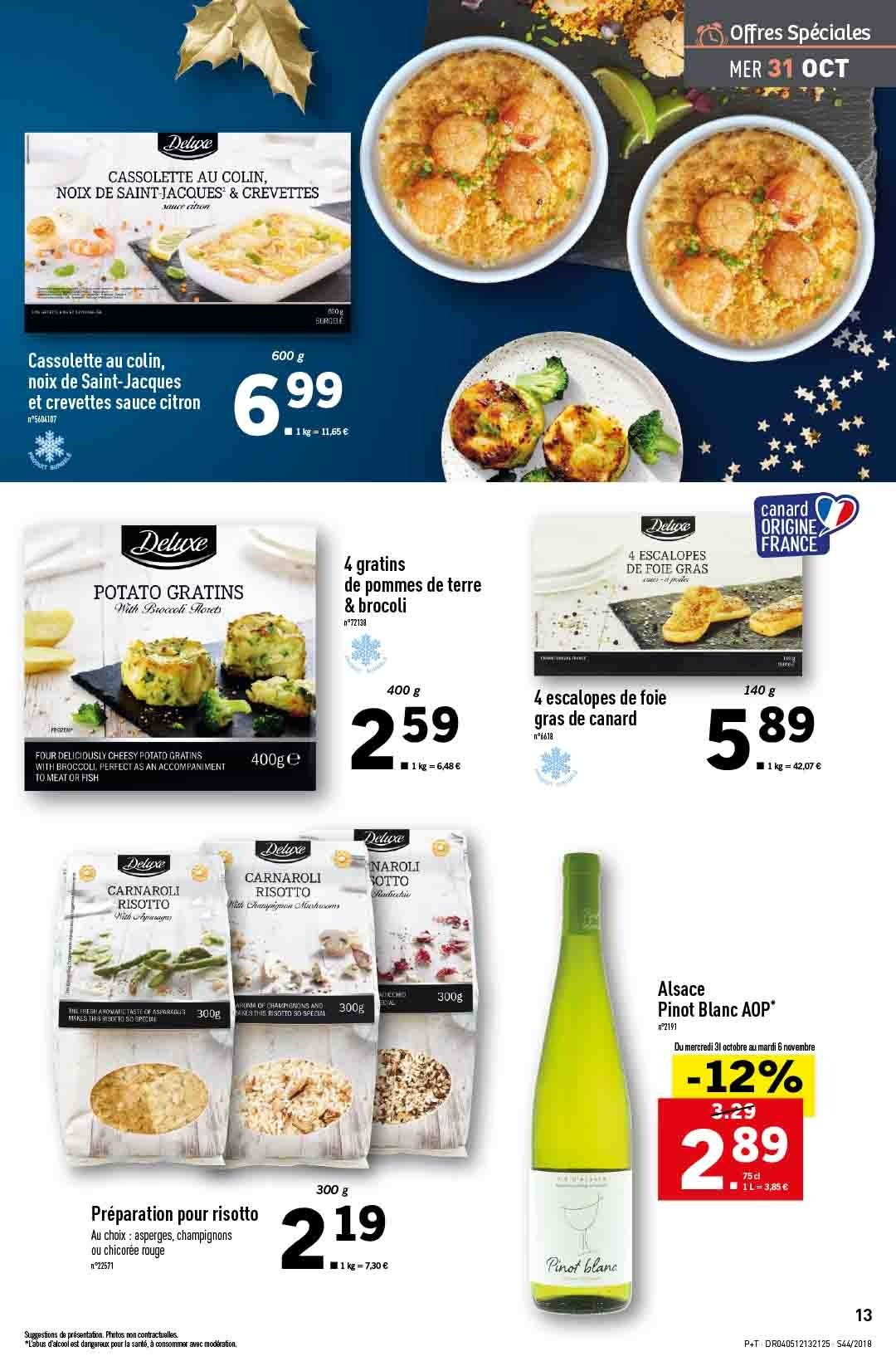 Catalogue Lidl - 31.10.2018 - 06.11.2018. Page 13.