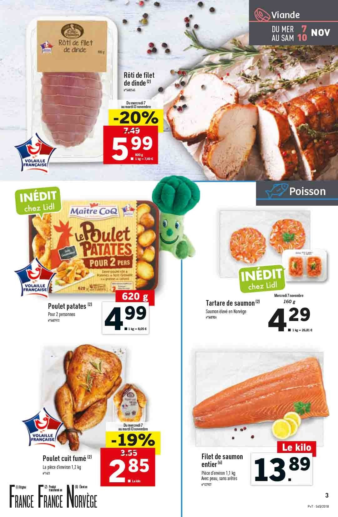 Catalogue Lidl - 07.11.2018 - 13.11.2018. Page 3.