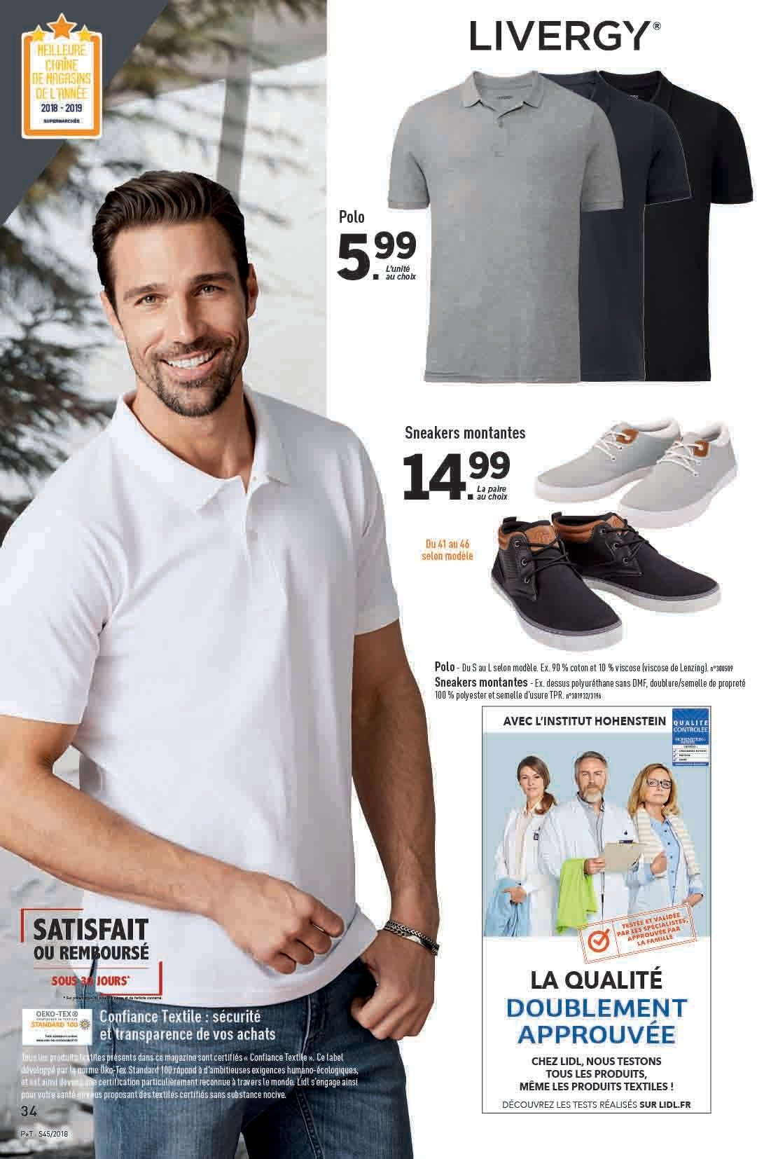 Catalogue Lidl - 07.11.2018 - 13.11.2018. Page 34.
