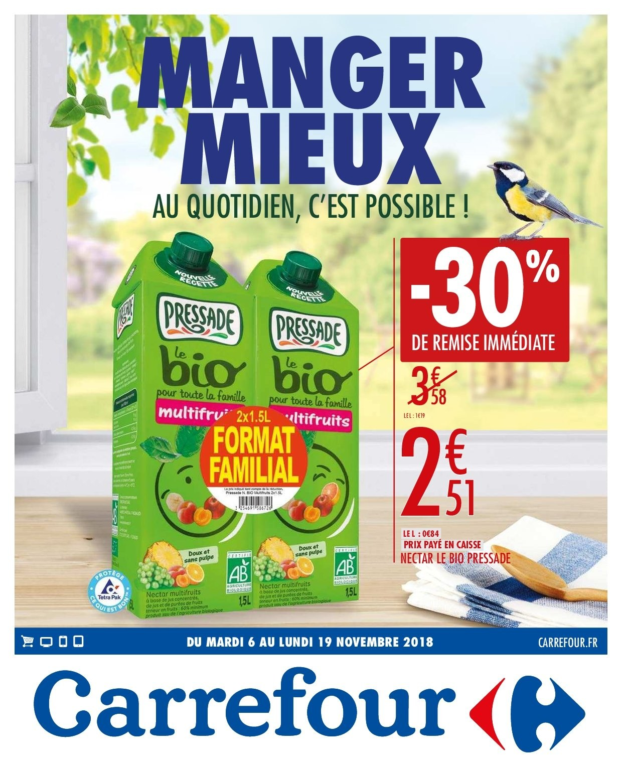 Catalogue Carrefour - 06.11.2018 - 19.11.2018. Page 1.