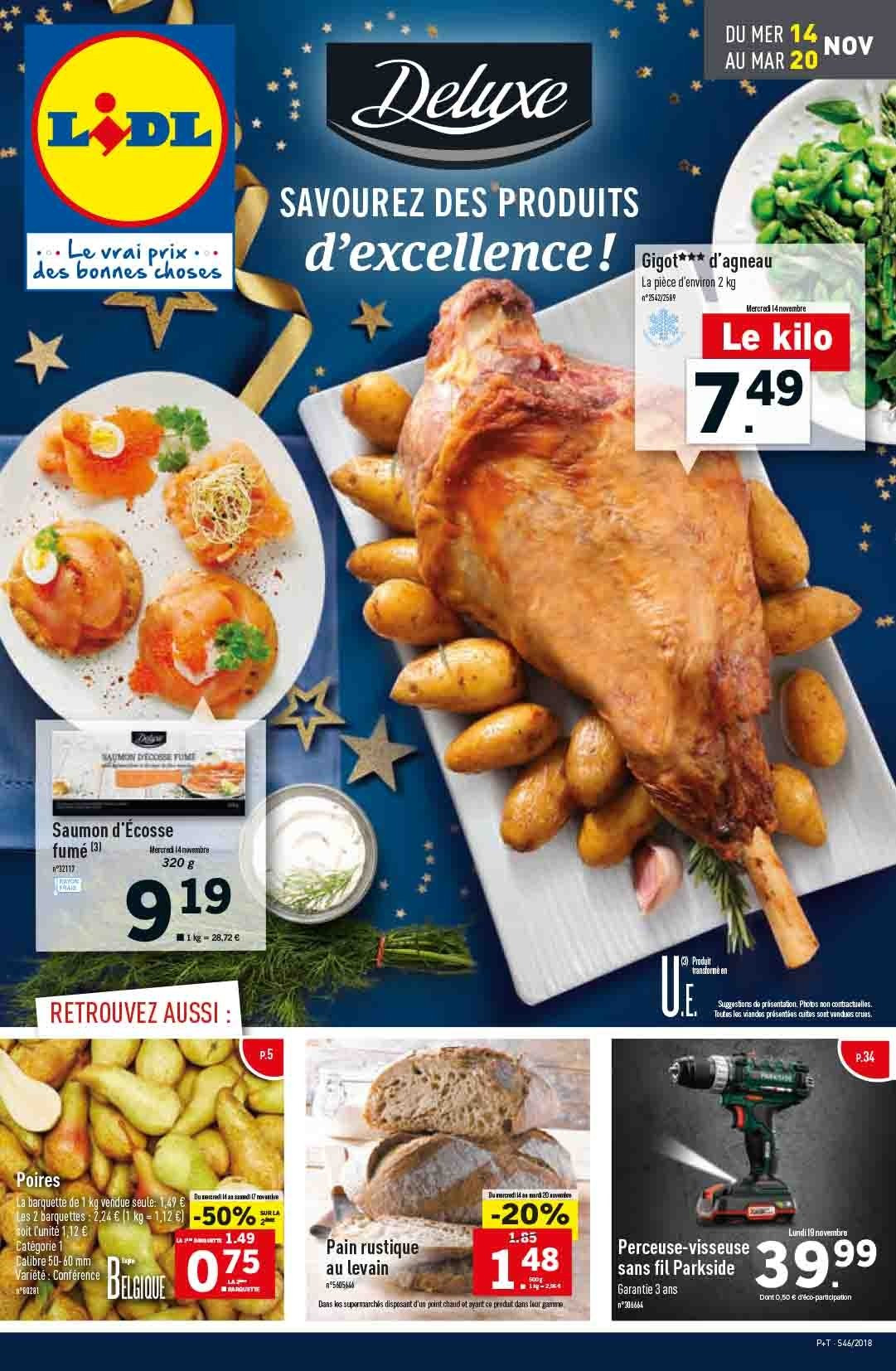 Catalogue Lidl - 14.11.2018 - 20.11.2018. Page 1.
