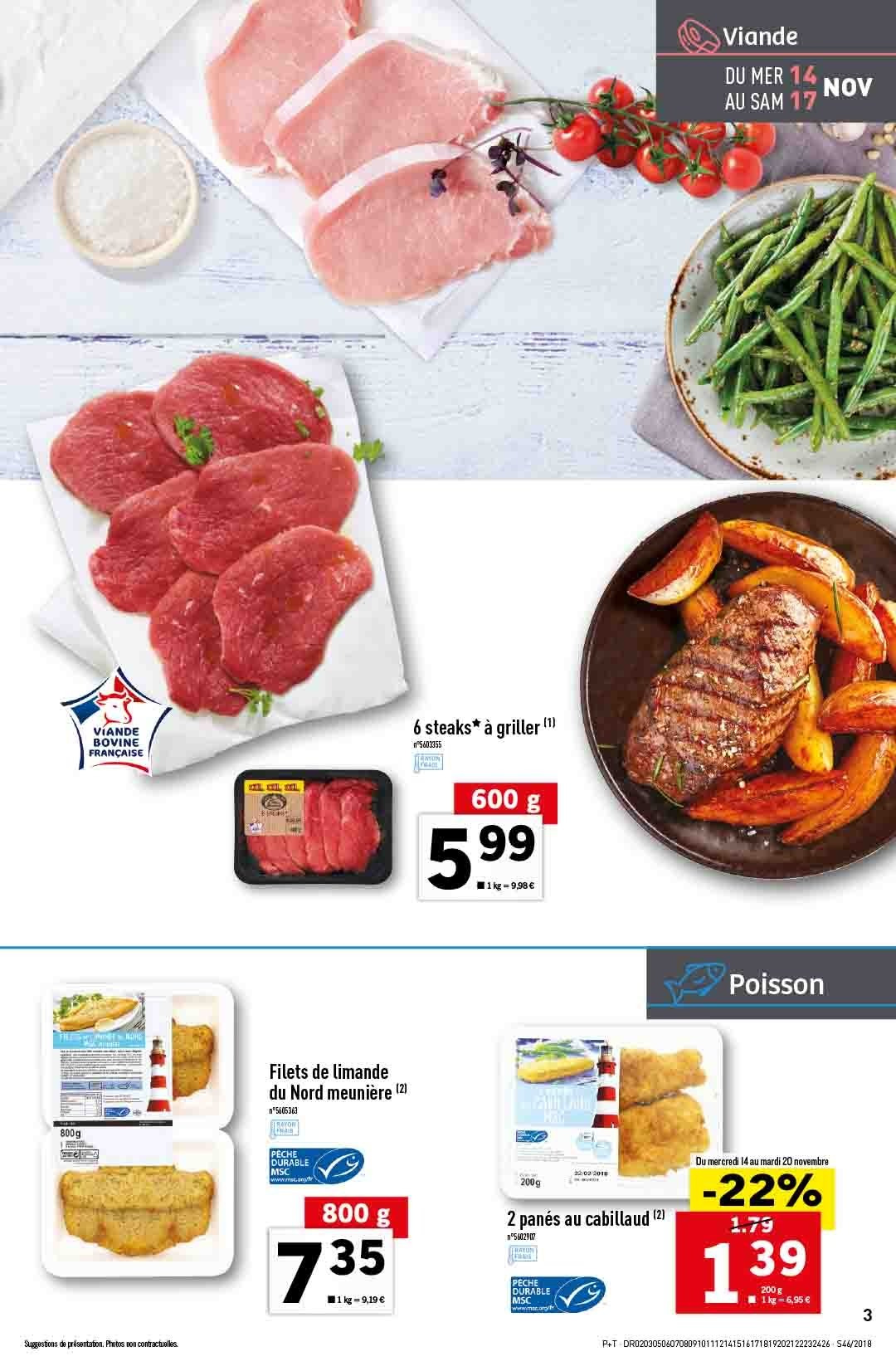 Catalogue Lidl - 14.11.2018 - 20.11.2018. Page 3.