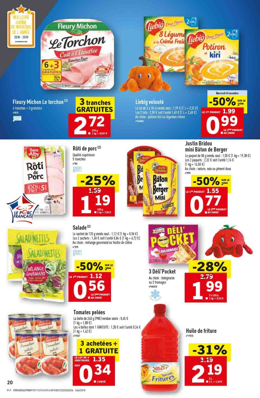Catalogue Lidl - 14.11.2018 - 20.11.2018. Page 20.