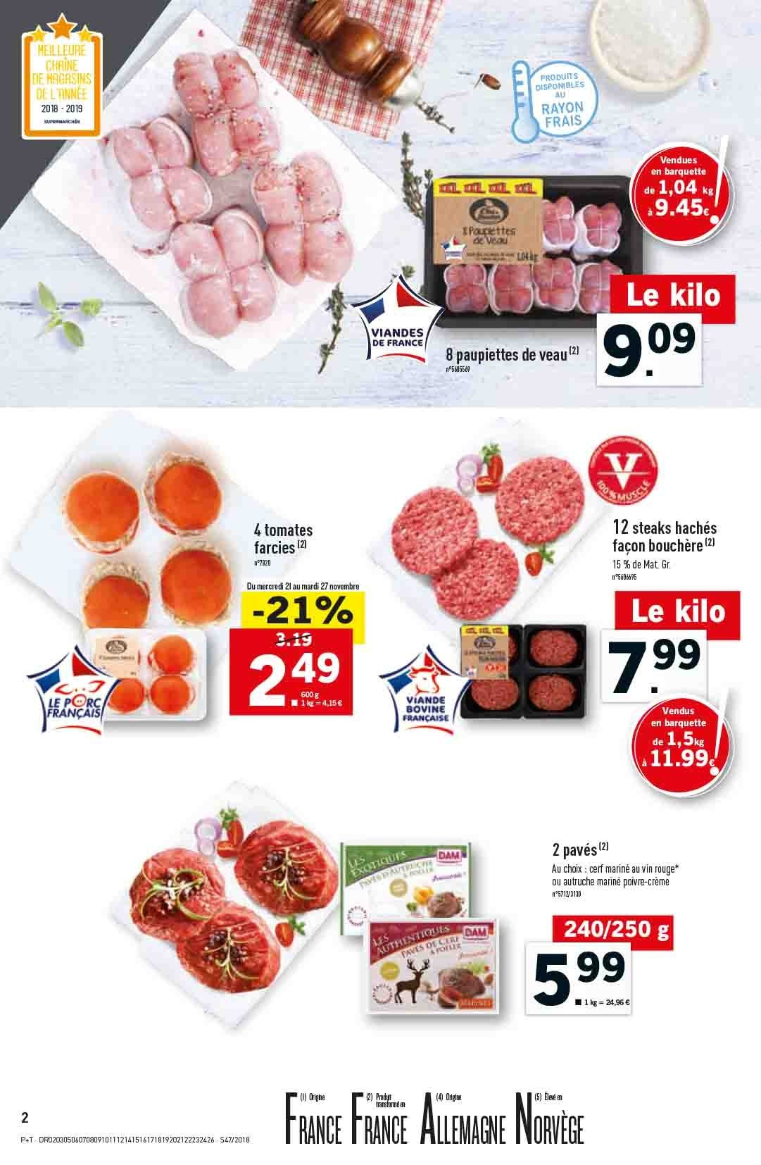 Catalogue Lidl - 21.11.2018 - 27.11.2018. Page 2.
