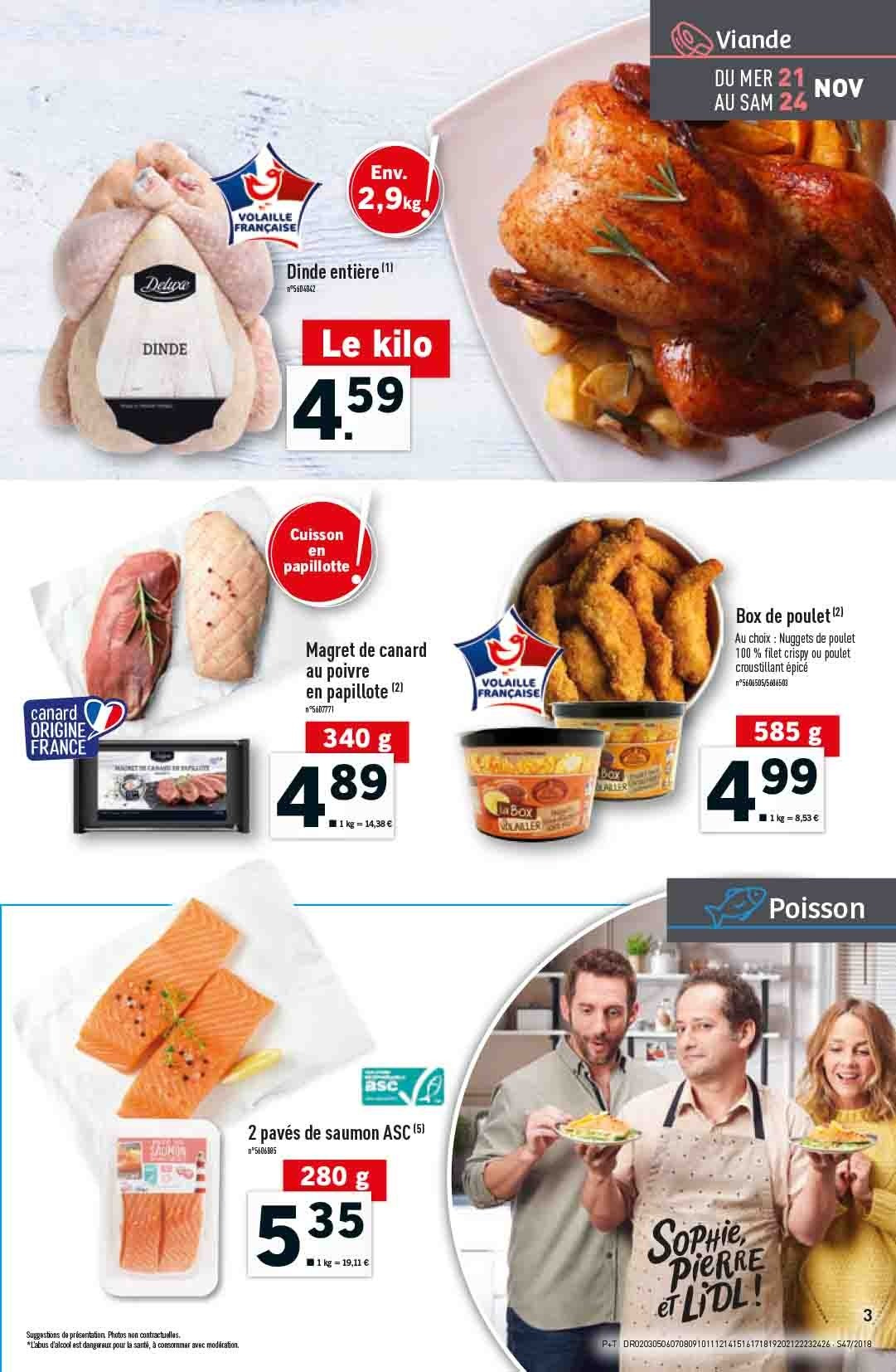 Catalogue Lidl - 21.11.2018 - 27.11.2018. Page 3.