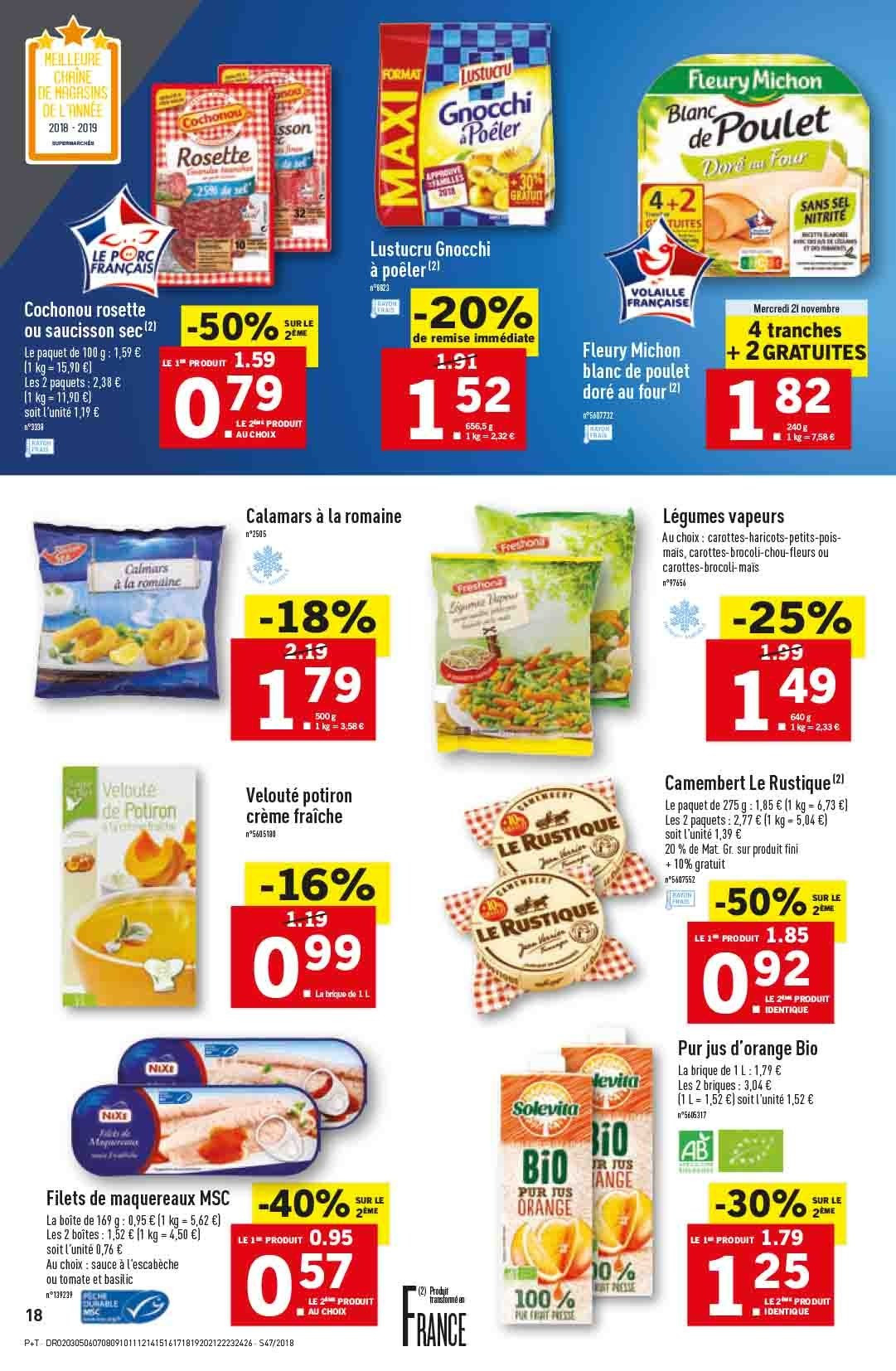 Catalogue Lidl - 21.11.2018 - 27.11.2018. Page 18.