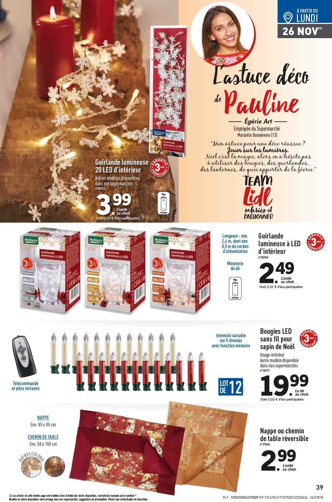 Catalogue Lidl - 21.11.2018 - 27.11.2018. Page 39.