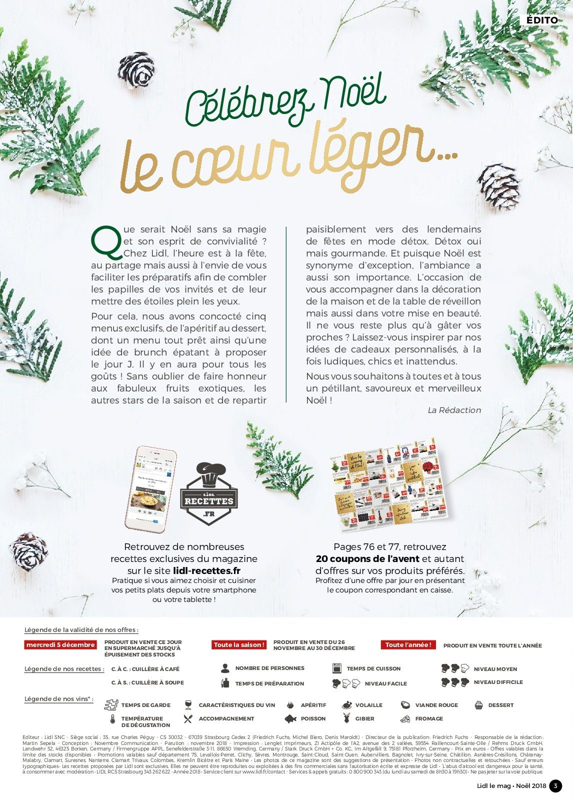 Catalogue Lidl - 26.11.2018 - 30.12.2018. Page 3.