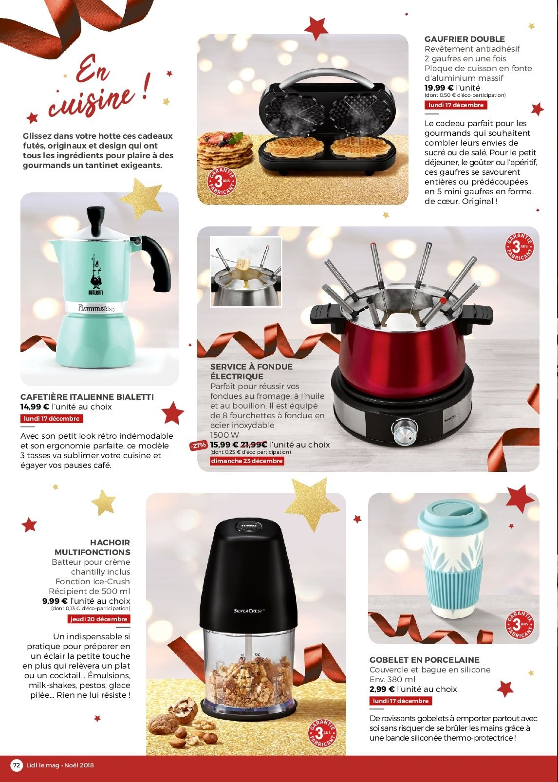 Catalogue Lidl - 26.11.2018 - 30.12.2018. Page 72.