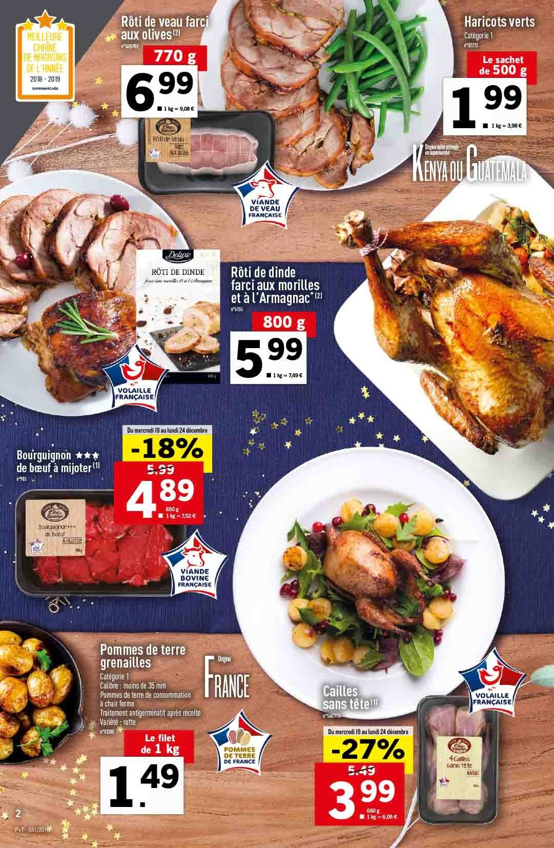 Catalogue Lidl - 19.12.2018 - 24.12.2018. Page 2.