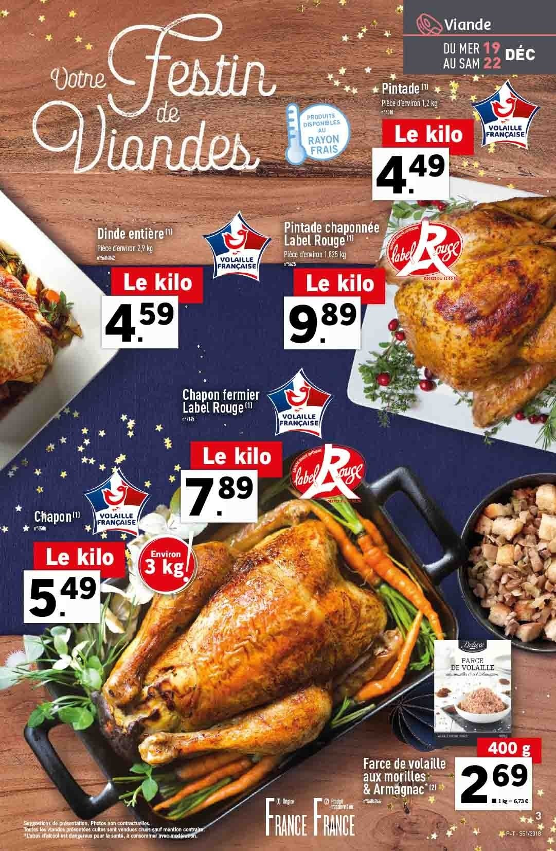 Catalogue Lidl - 19.12.2018 - 24.12.2018. Page 3.