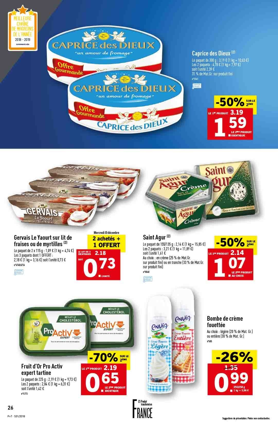 Catalogue Lidl - 19.12.2018 - 24.12.2018. Page 26.
