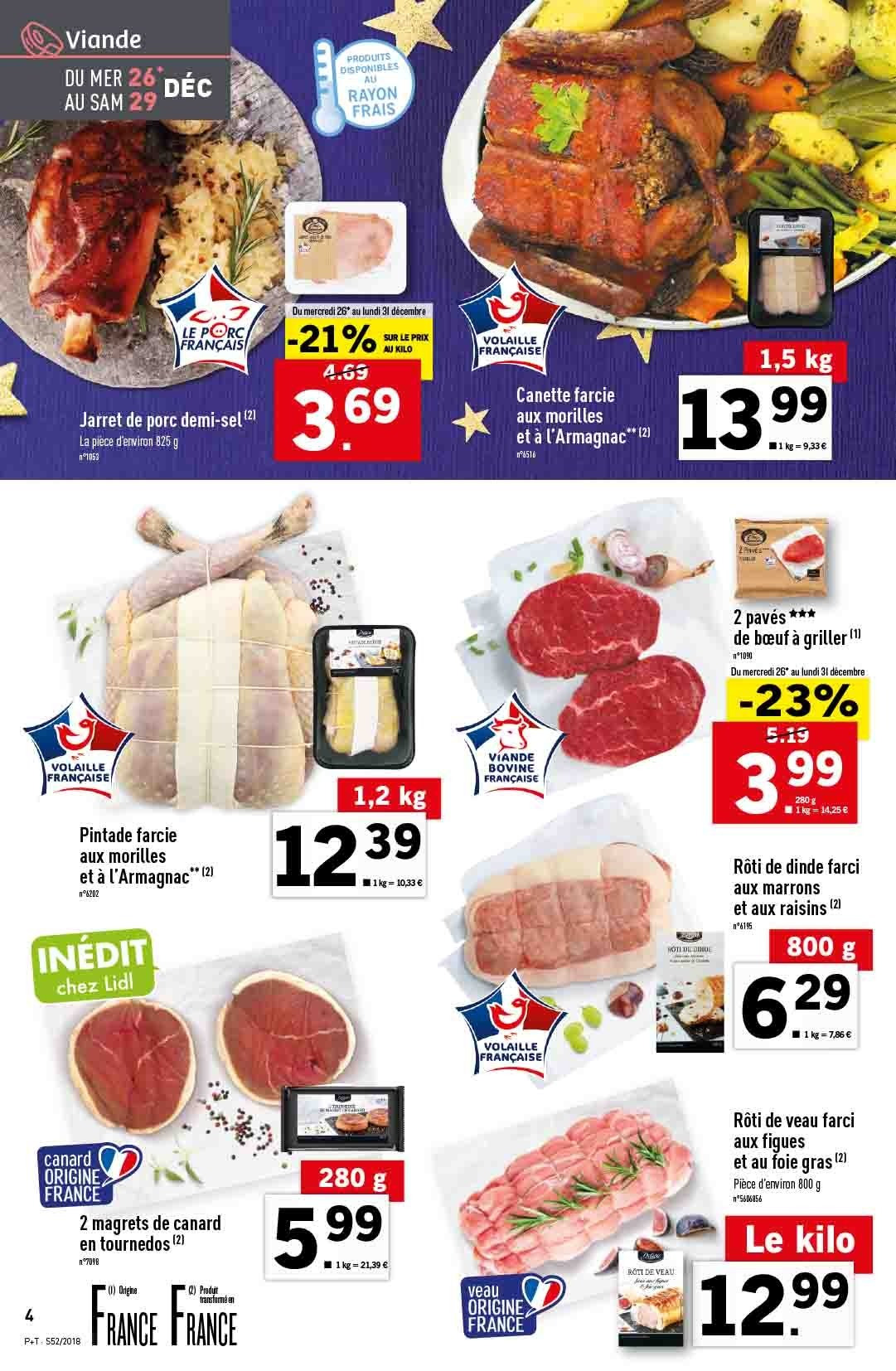 Catalogue Lidl - 26.12.2018 - 31.12.2018. Page 4.