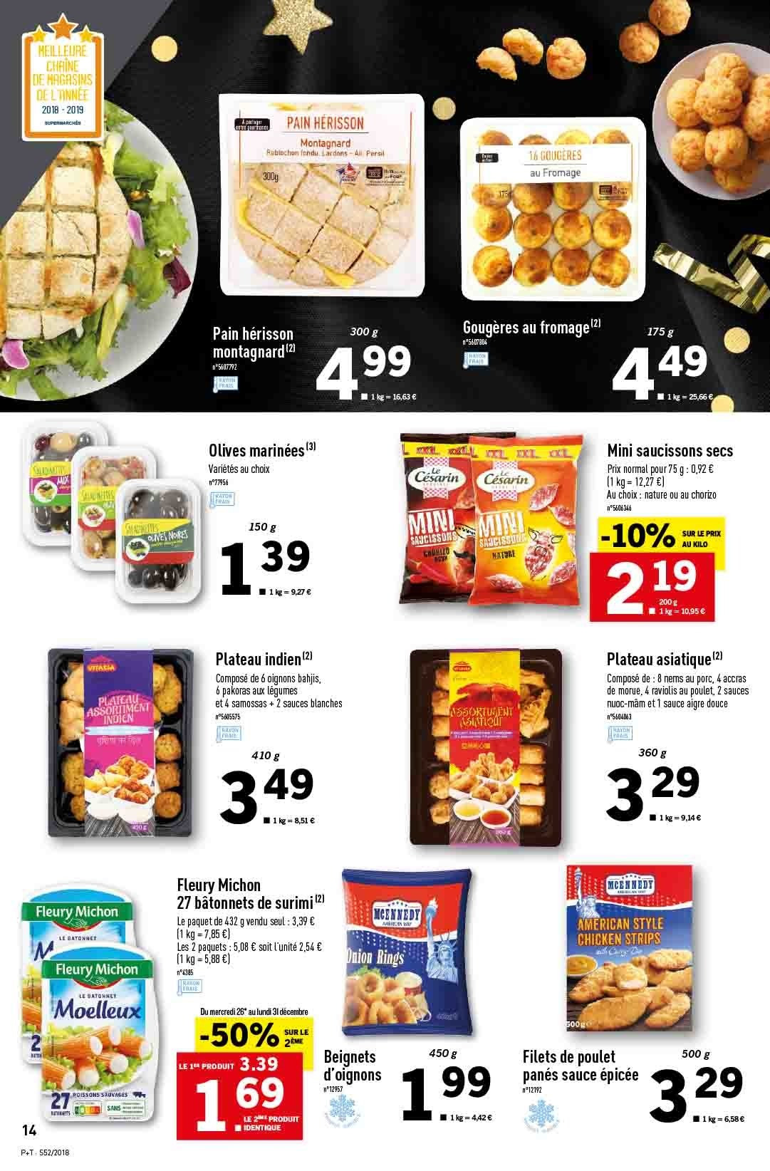 Catalogue Lidl - 26.12.2018 - 31.12.2018. Page 14.
