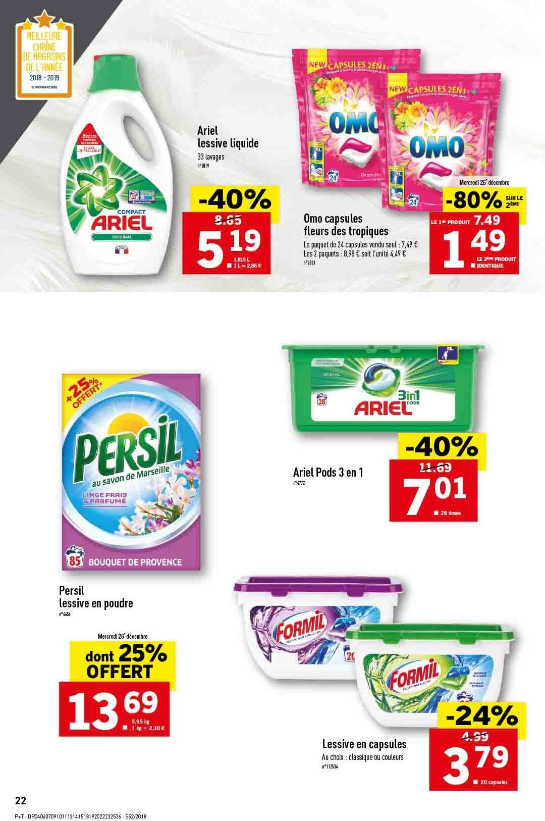 Catalogue Lidl - 26.12.2018 - 31.12.2018. Page 22.