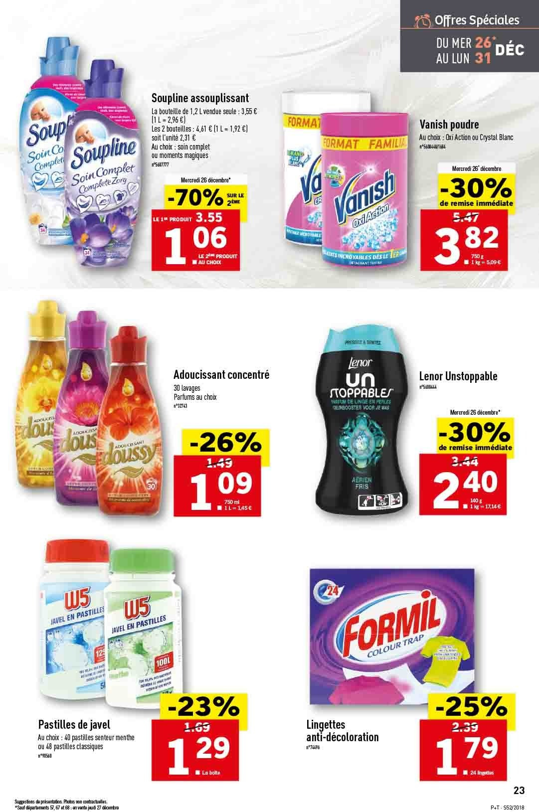 Catalogue Lidl - 26.12.2018 - 31.12.2018. Page 23.