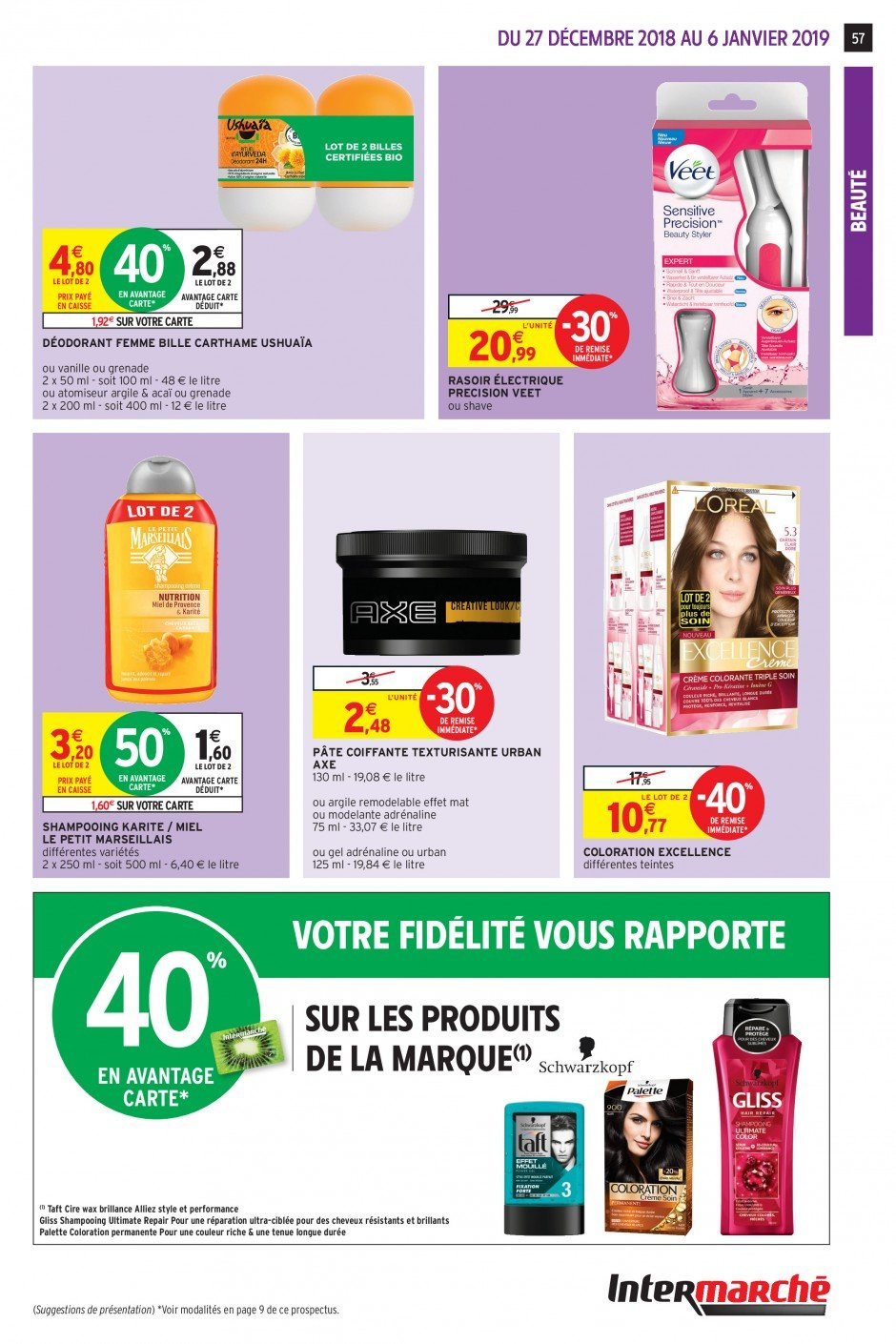 Catalogue Intermarché - 27.12.2018 - 06.01.2019. Page 56.