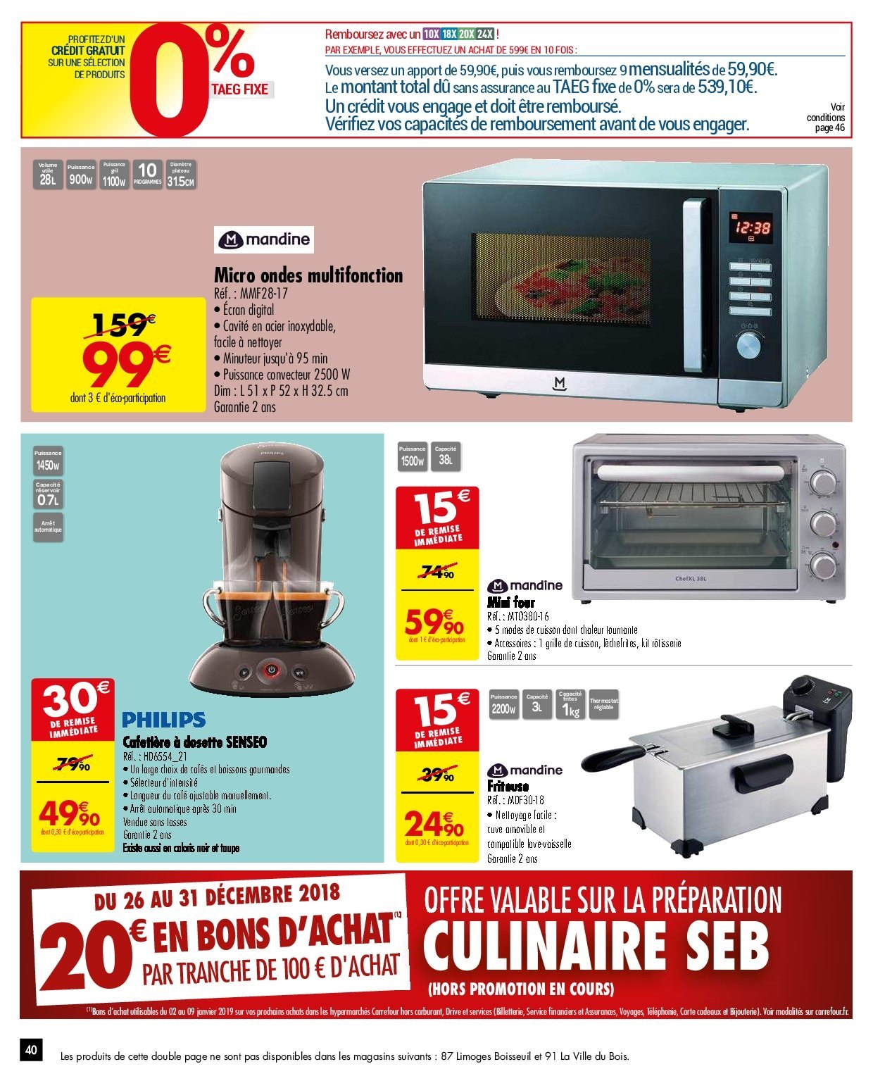 Catalogue Carrefour - 26.12.2018 - 31.12.2018. Page 40.